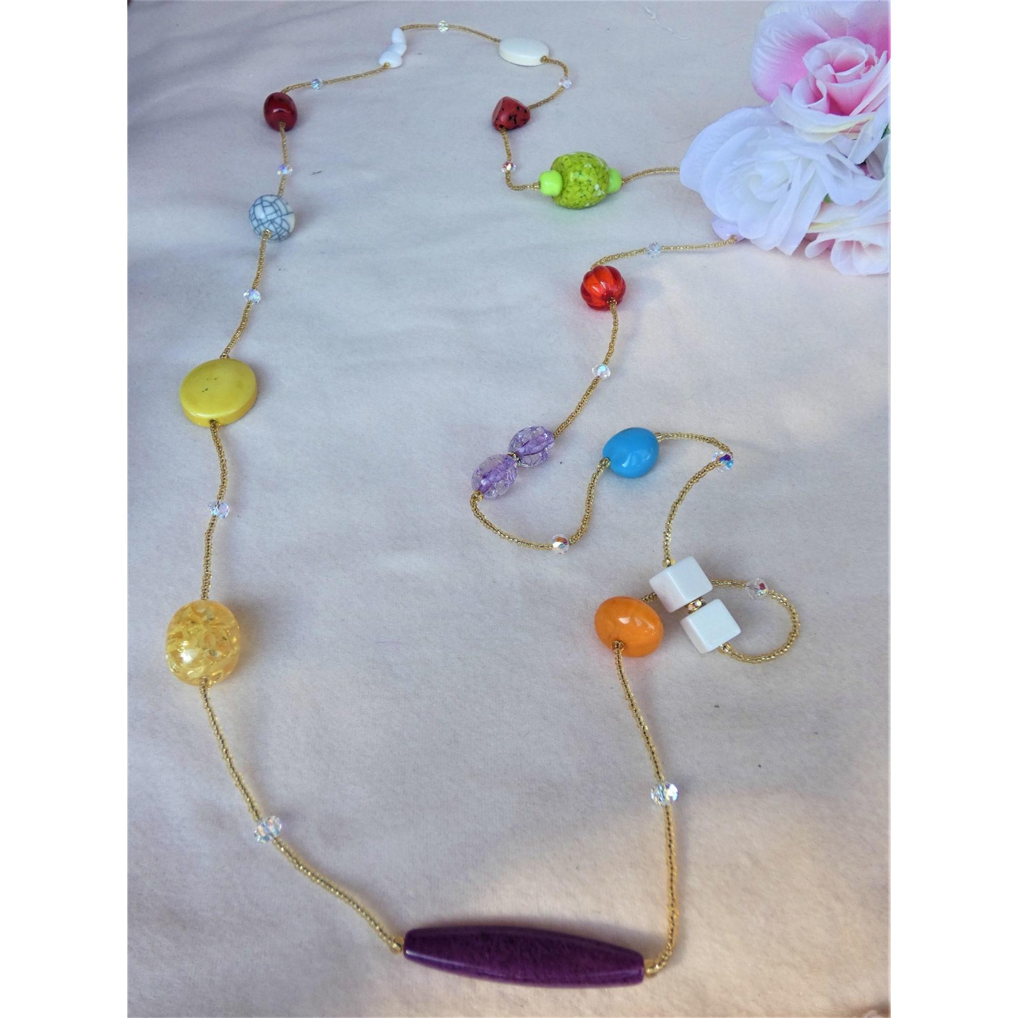 Sautoir NO COLLECTION perle multicolore