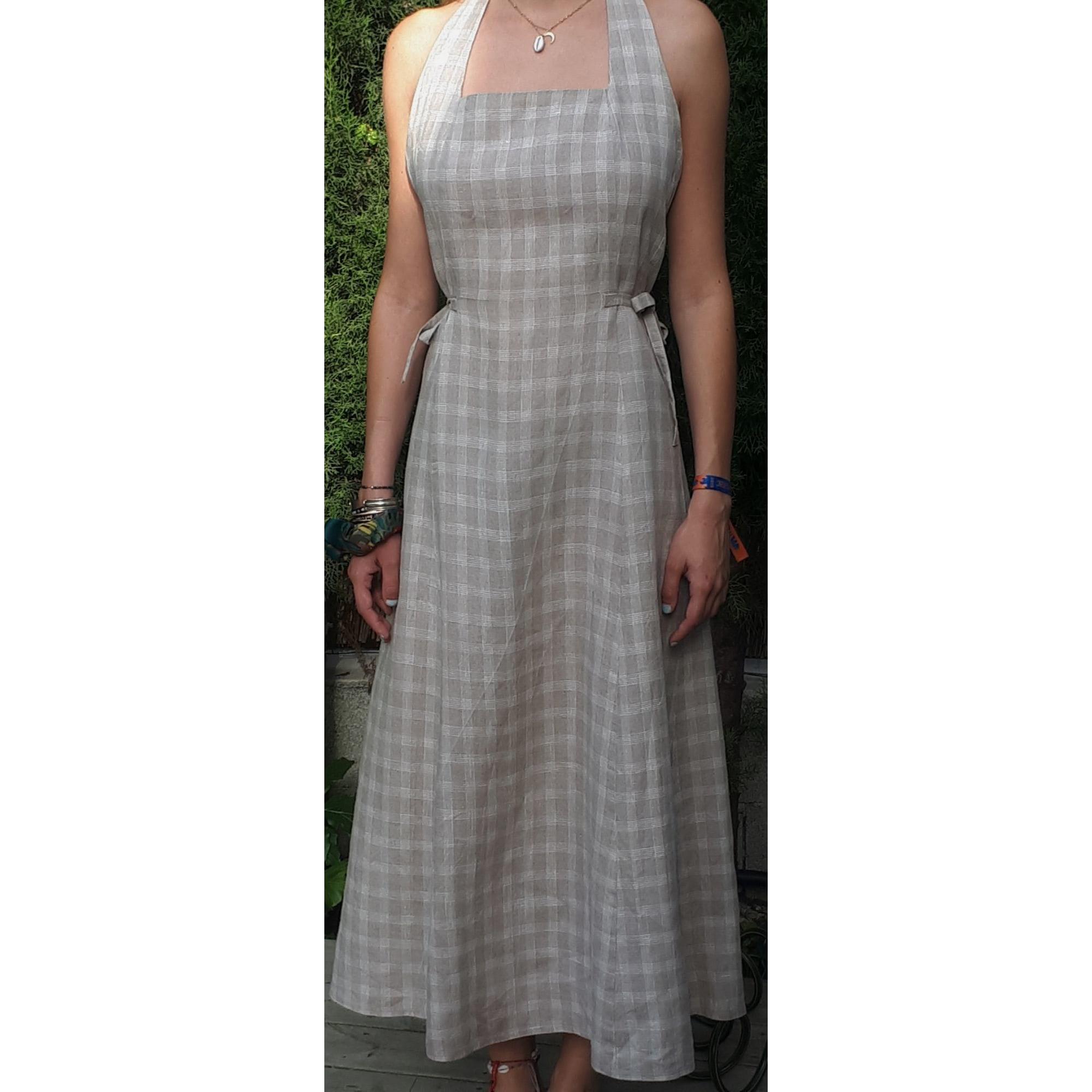 Robe longue PABLO PAR GÉRARD DAREL BEIGE / BLANC