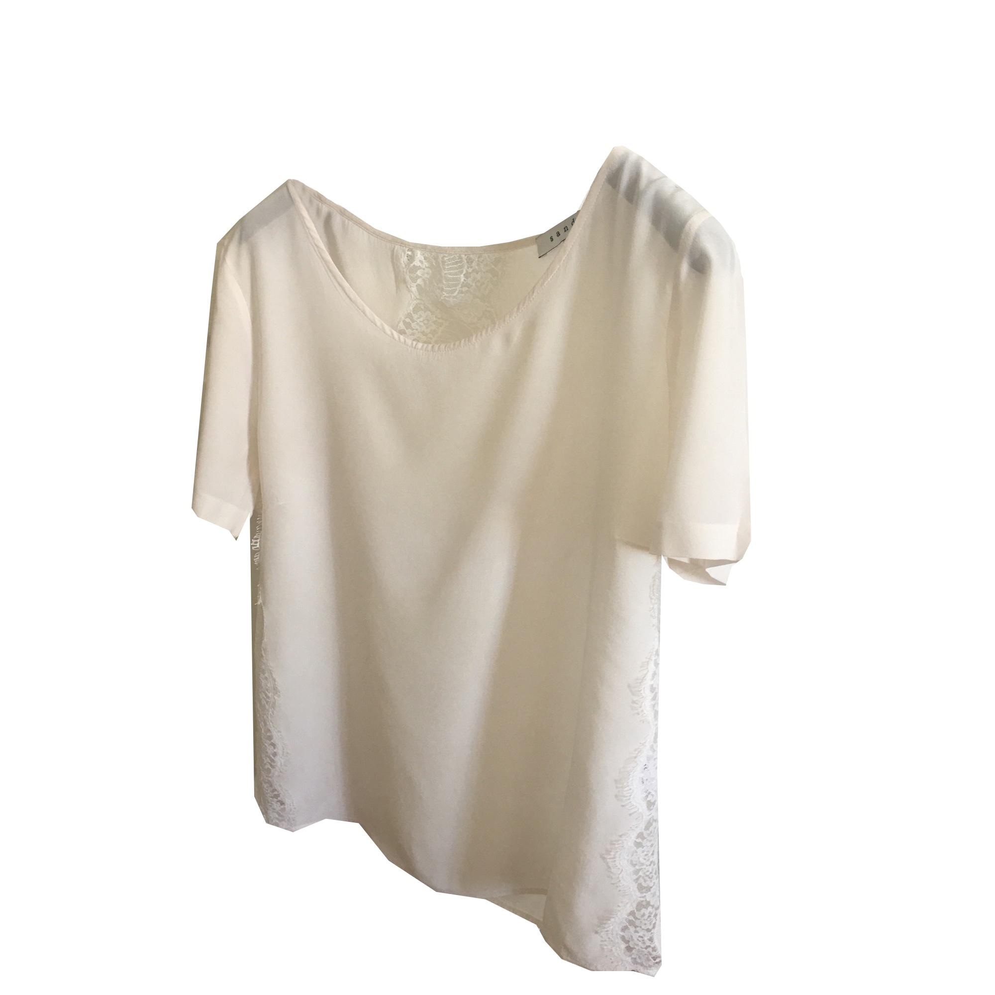 Blouse SANDRO White, off-white, ecru