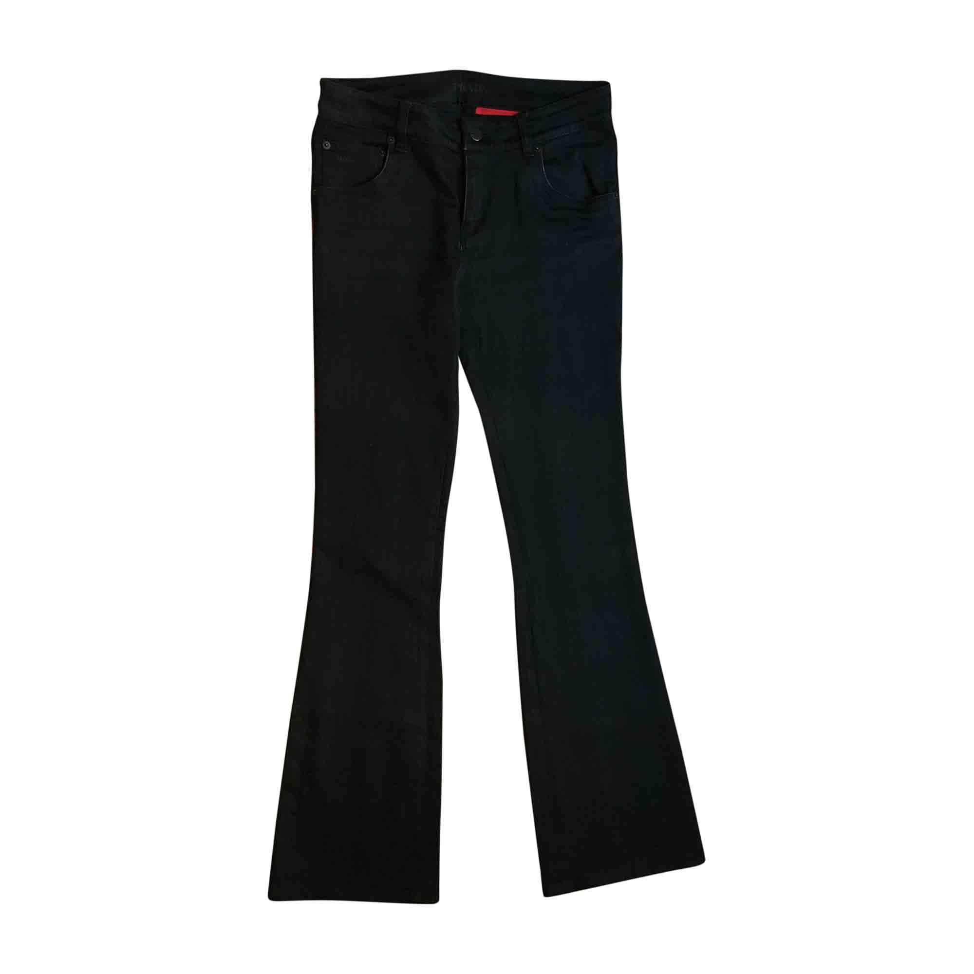 Jeans évasé, boot-cut PRADA Noir