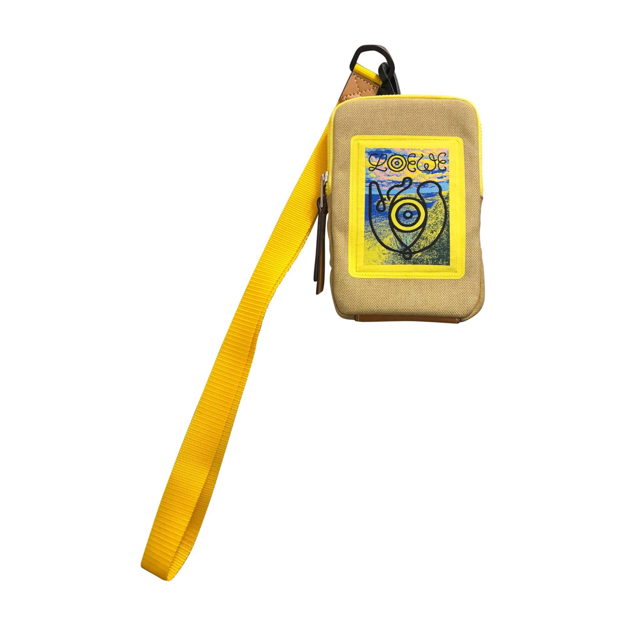 Sac pochette en tissu LOEWE polyester jaune