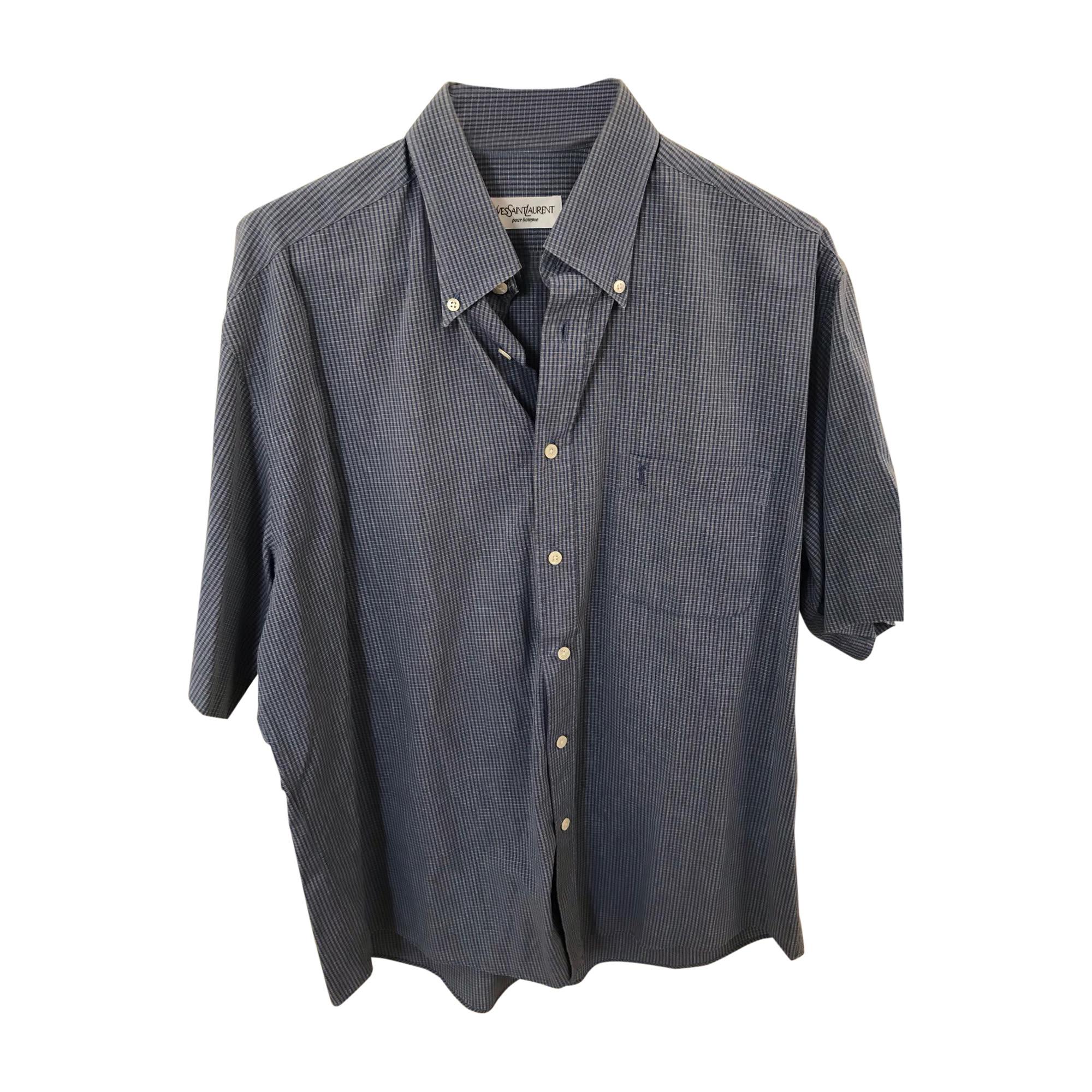 Shirt YVES SAINT LAURENT Blue, navy, turquoise