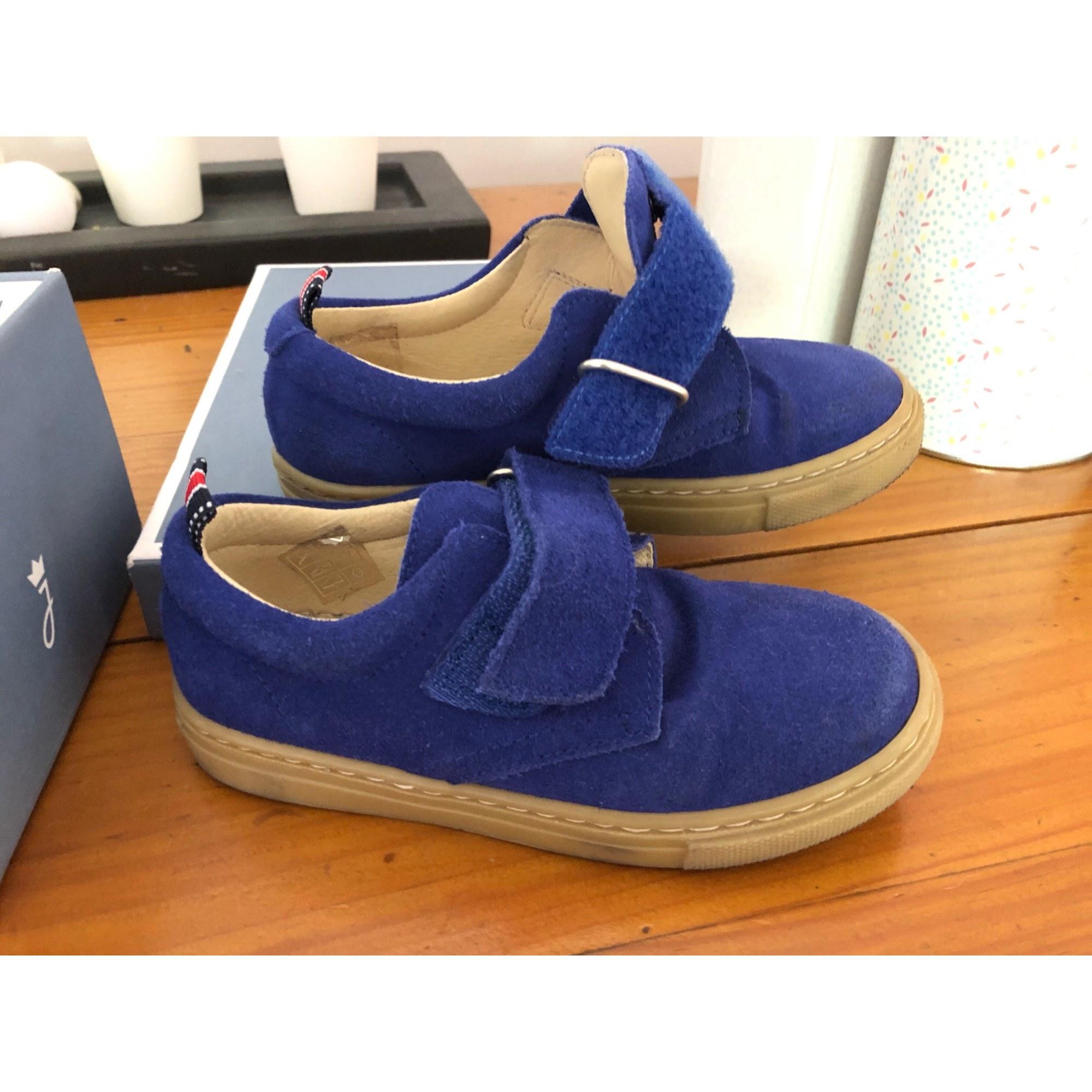 Chaussures à scratch JACADI Bleu, bleu marine, bleu turquoise