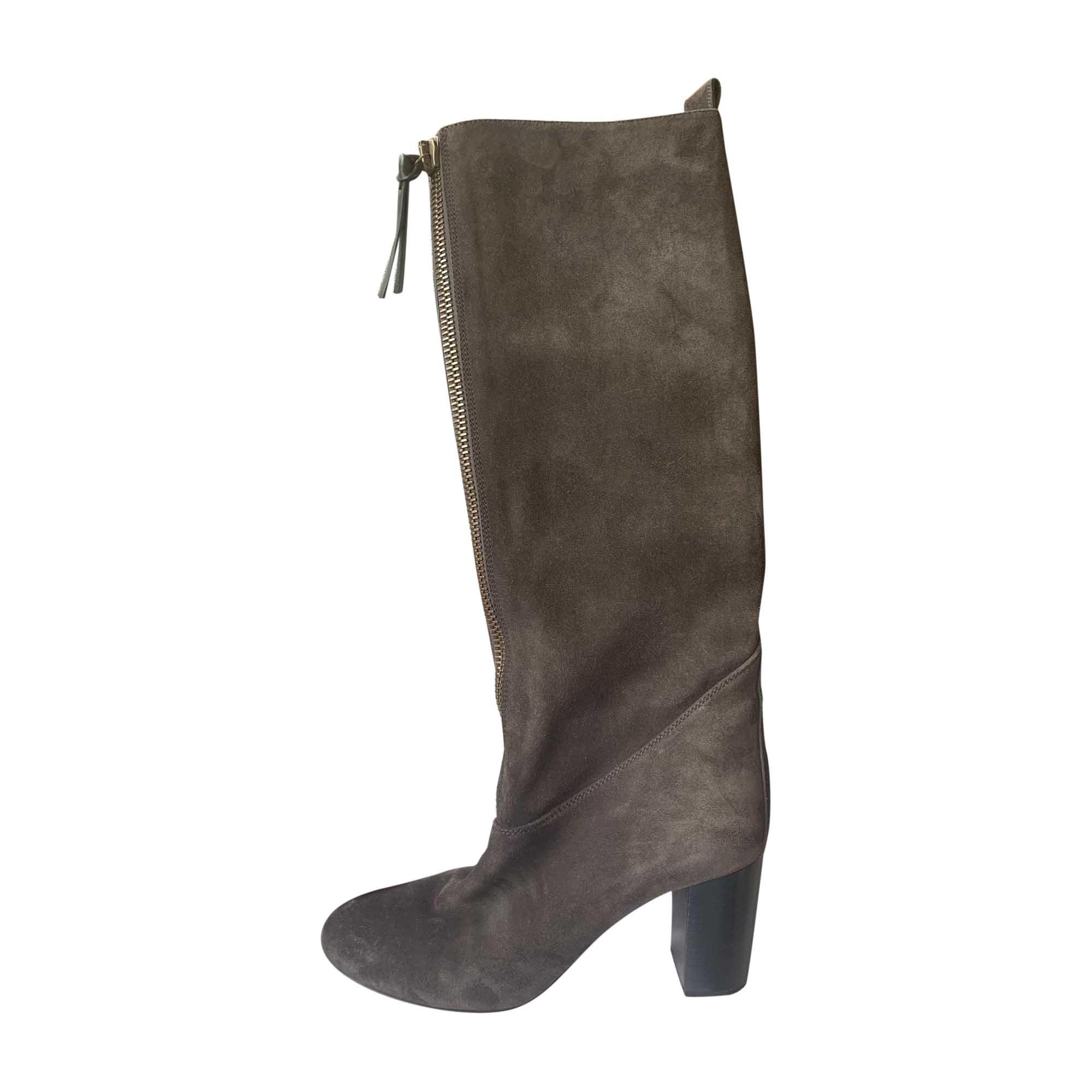 High Heel Boots CHLOÉ Gray, charcoal