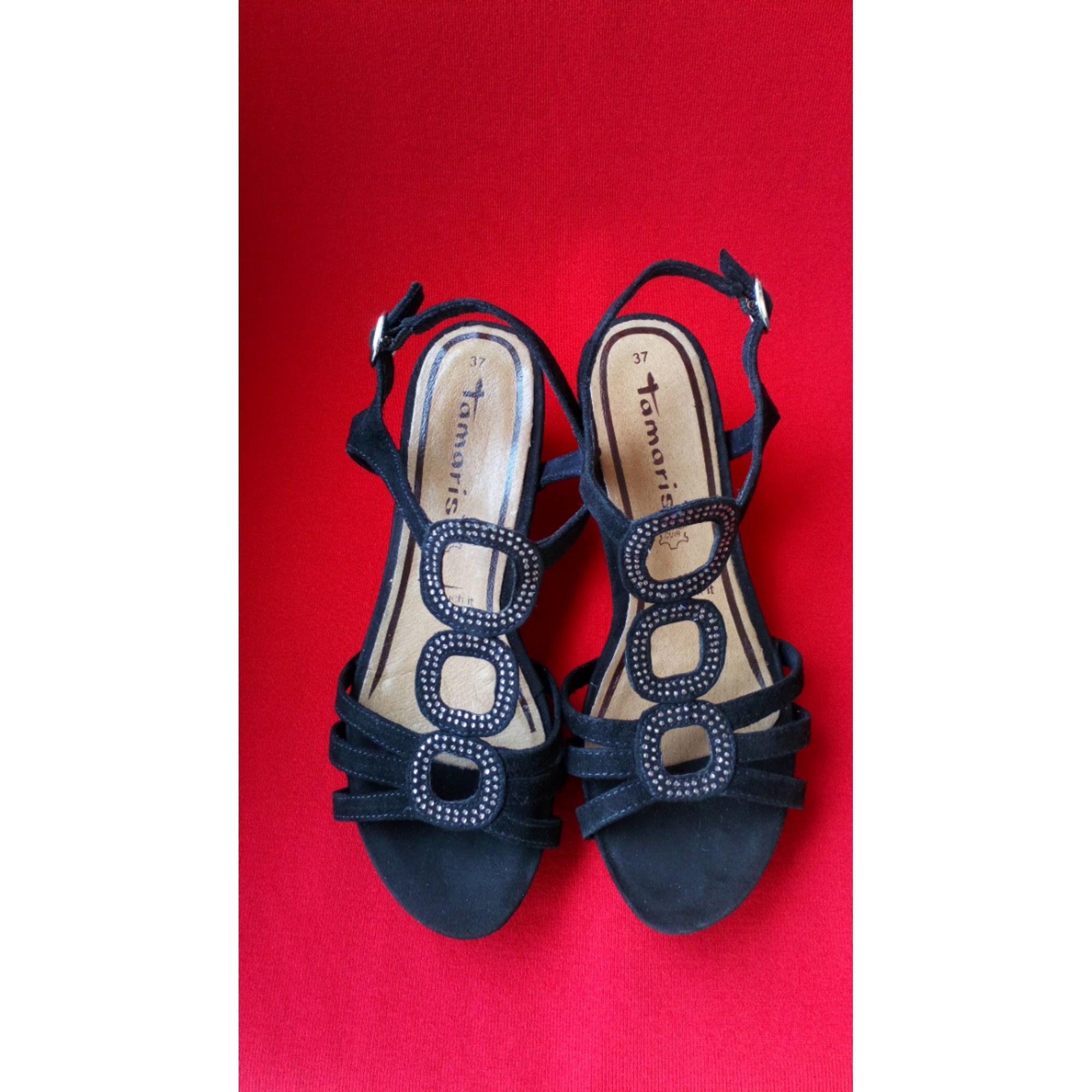 Sandales compensées TAMARIS Noir