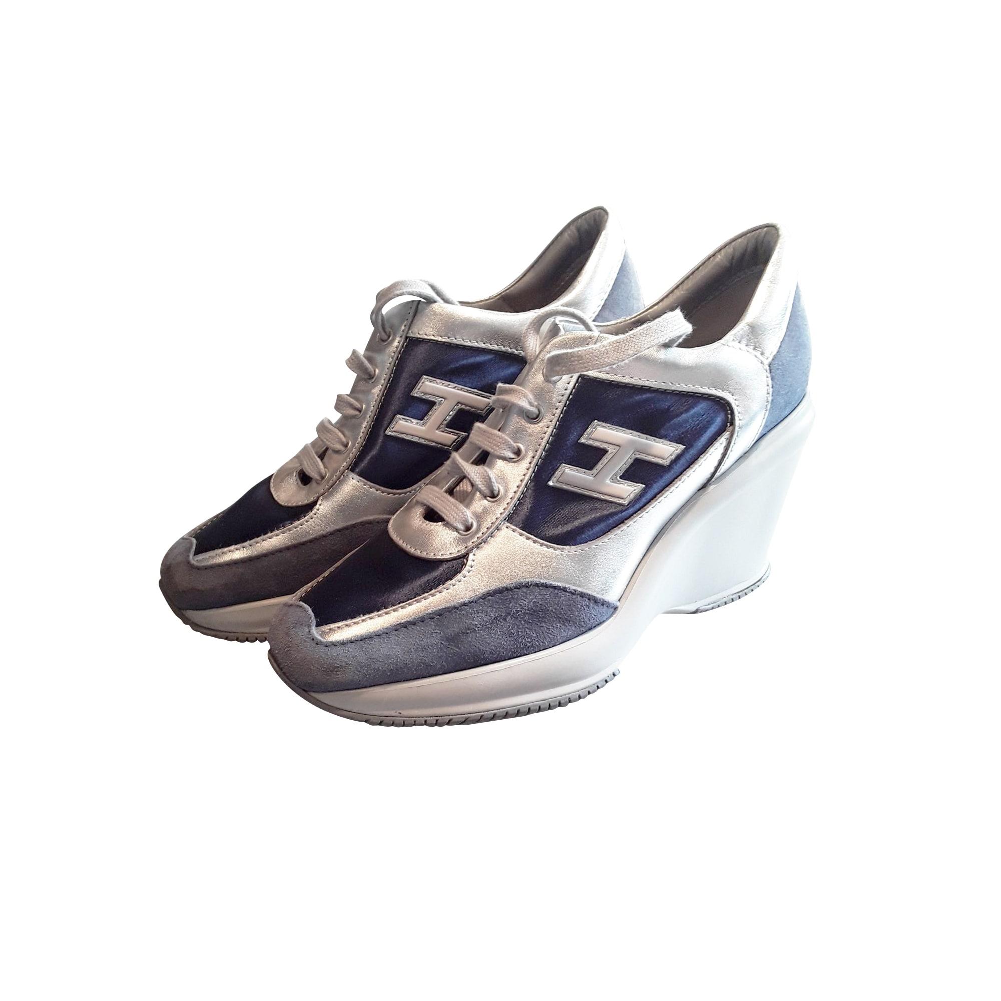 Lace Up Shoes HOGAN Bleu et Argenté