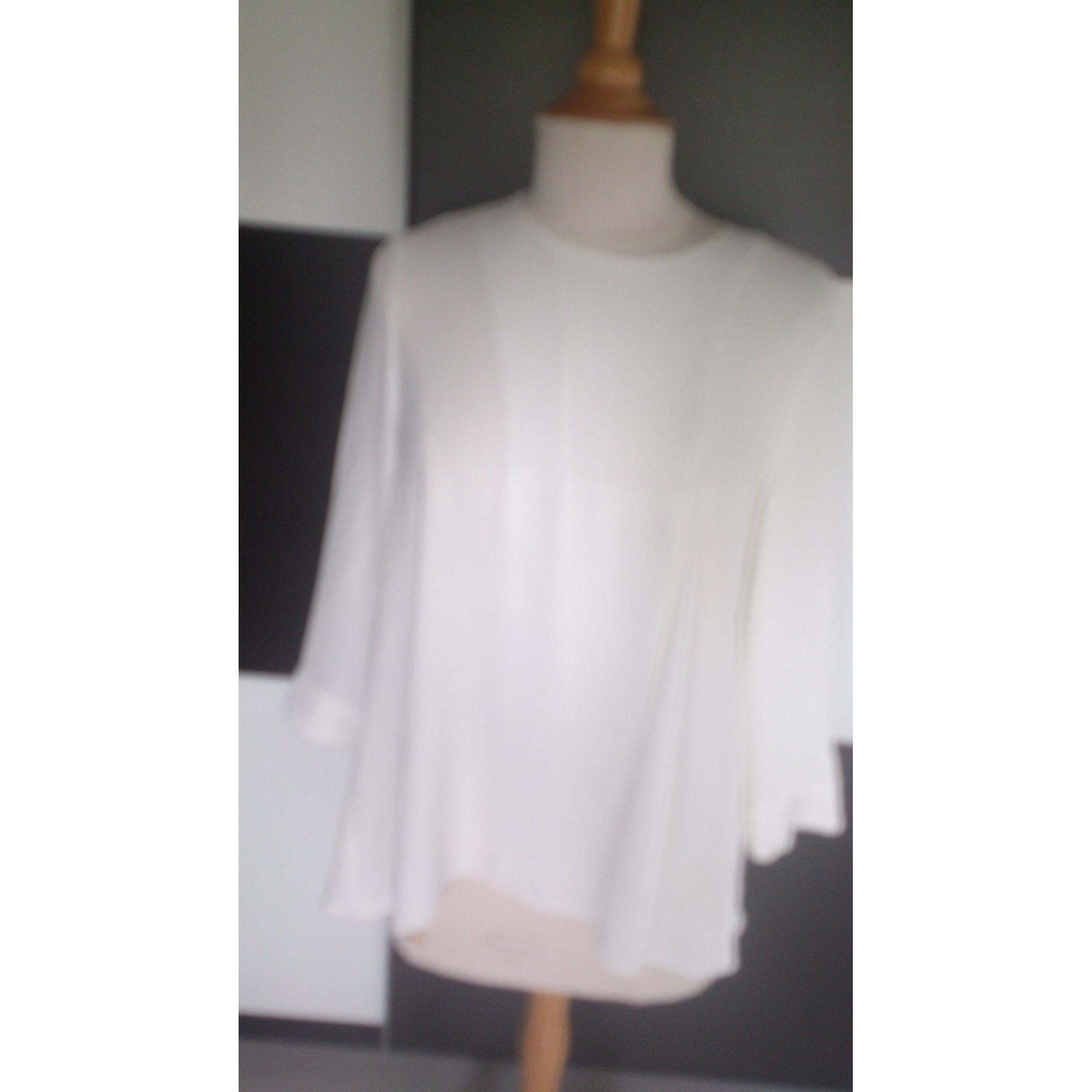 Blouse TARA JARMON Blanc, blanc cassé, écru