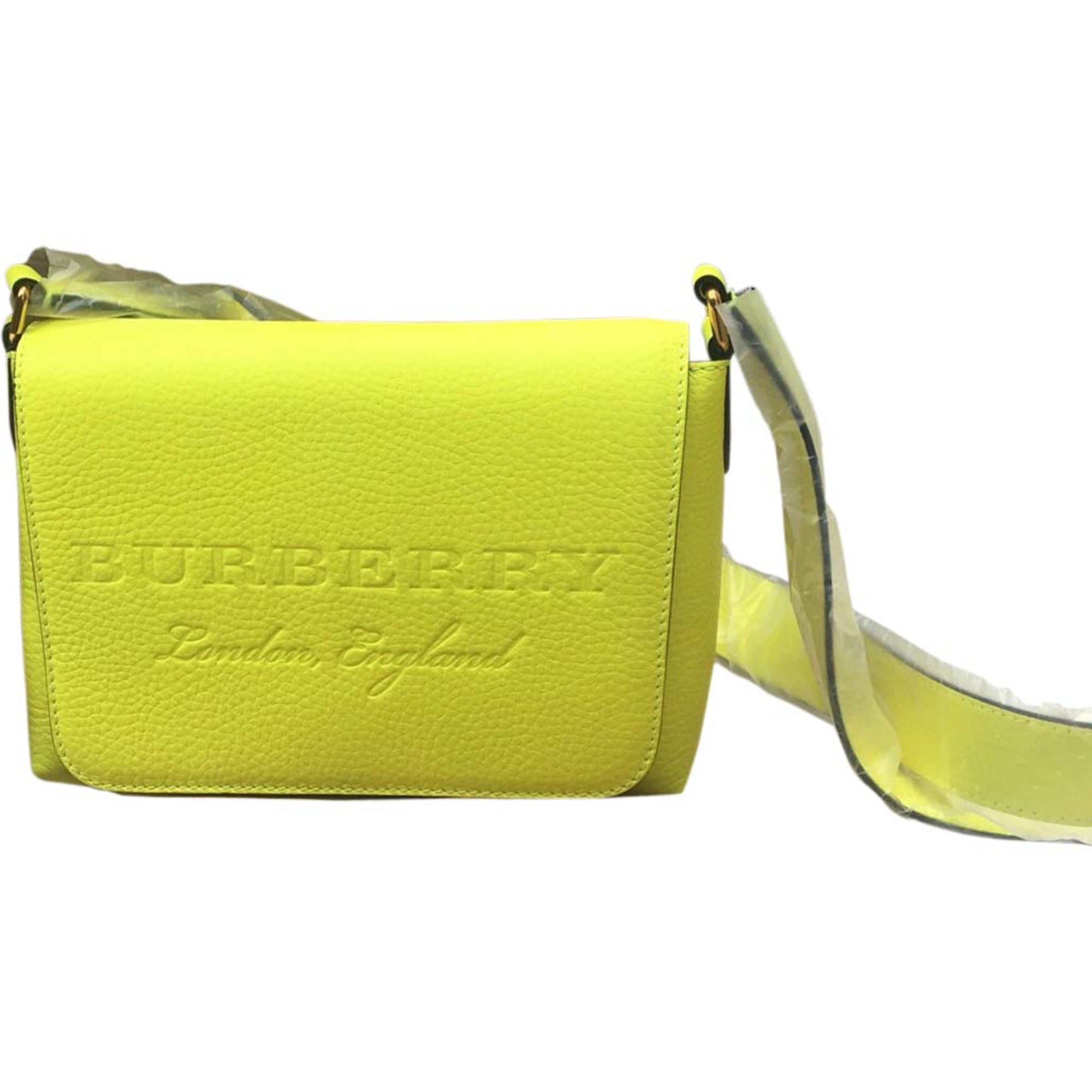 Leather Shoulder Bag BURBERRY Yellow