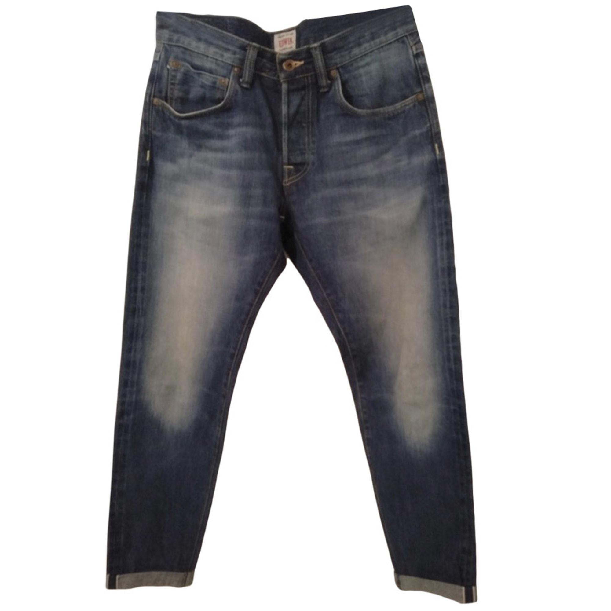 Straight Leg Jeans EDWIN Blue, navy, turquoise