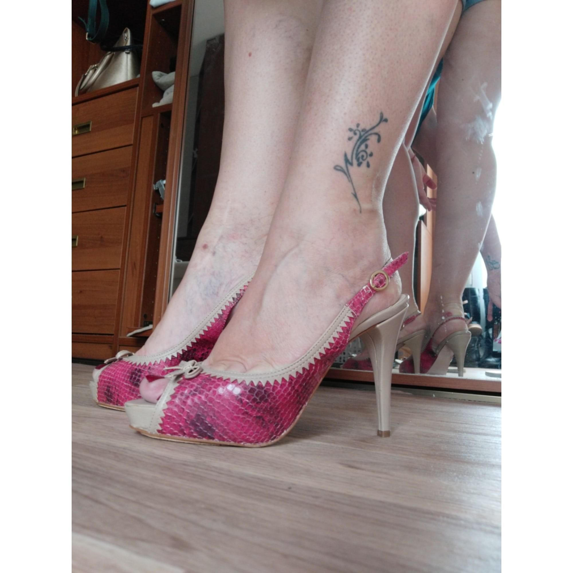 Sandales à talons EDEN Rose, fuschia, vieux rose