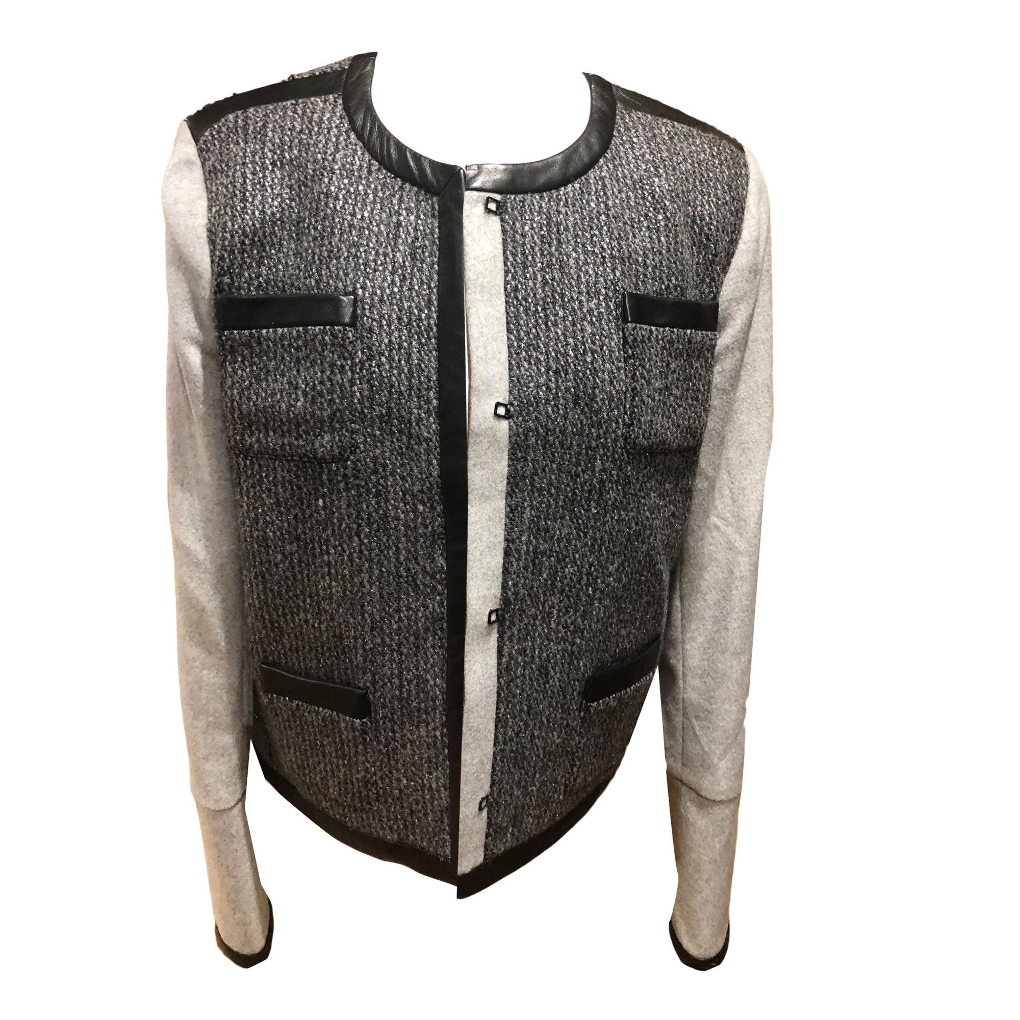 Jacket MAJE Gray, charcoal