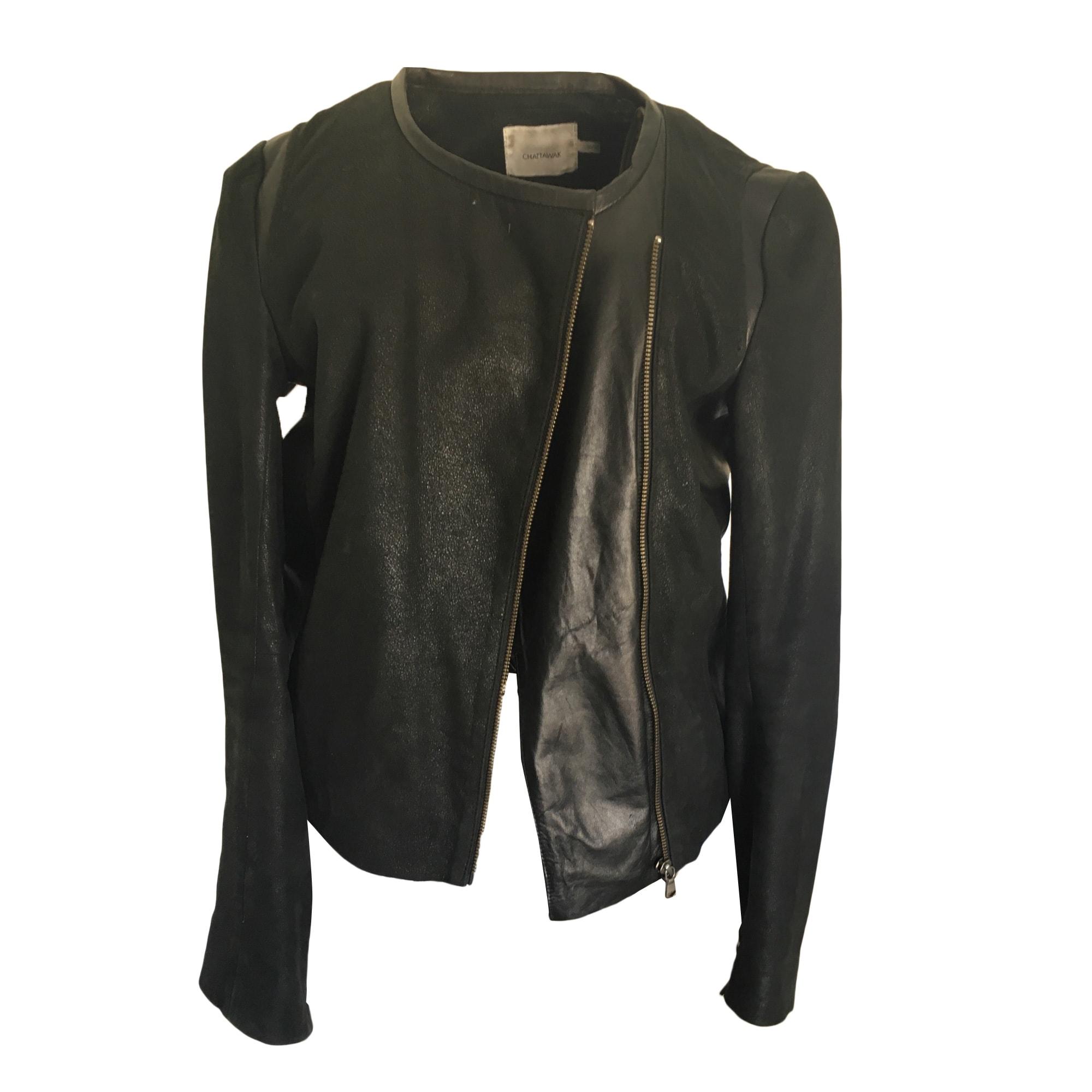 Leather Jacket CHATTAWAK Black