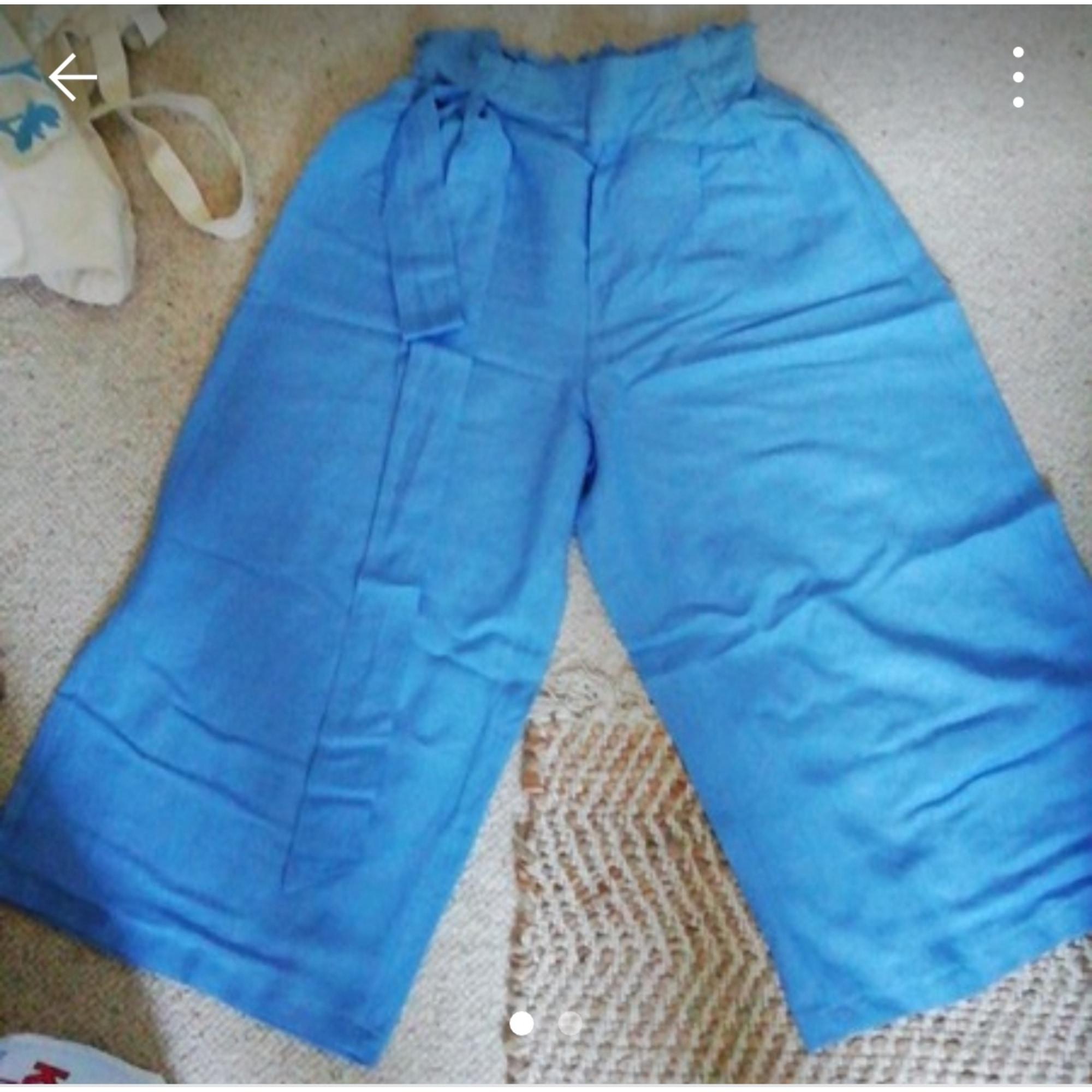 Pantacourt, corsaire BERSHKA Bleu, bleu marine, bleu turquoise