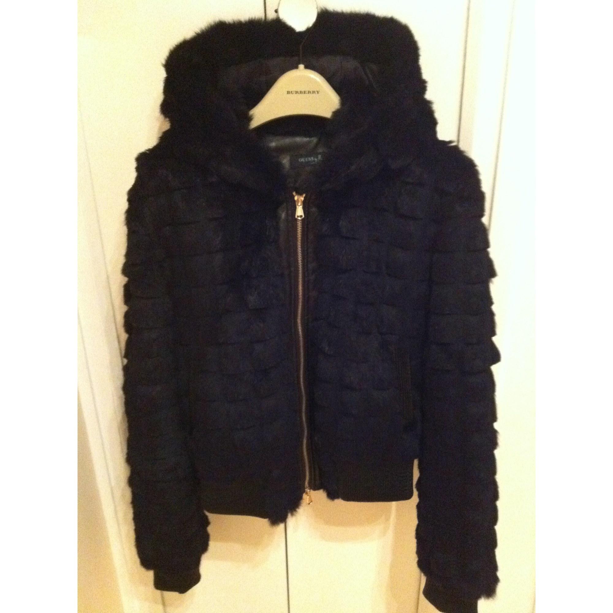 Blouson, veste en fourrure GUESS 42 (L XL, T4) noir vendu par Jackie ... 8fb5b791056