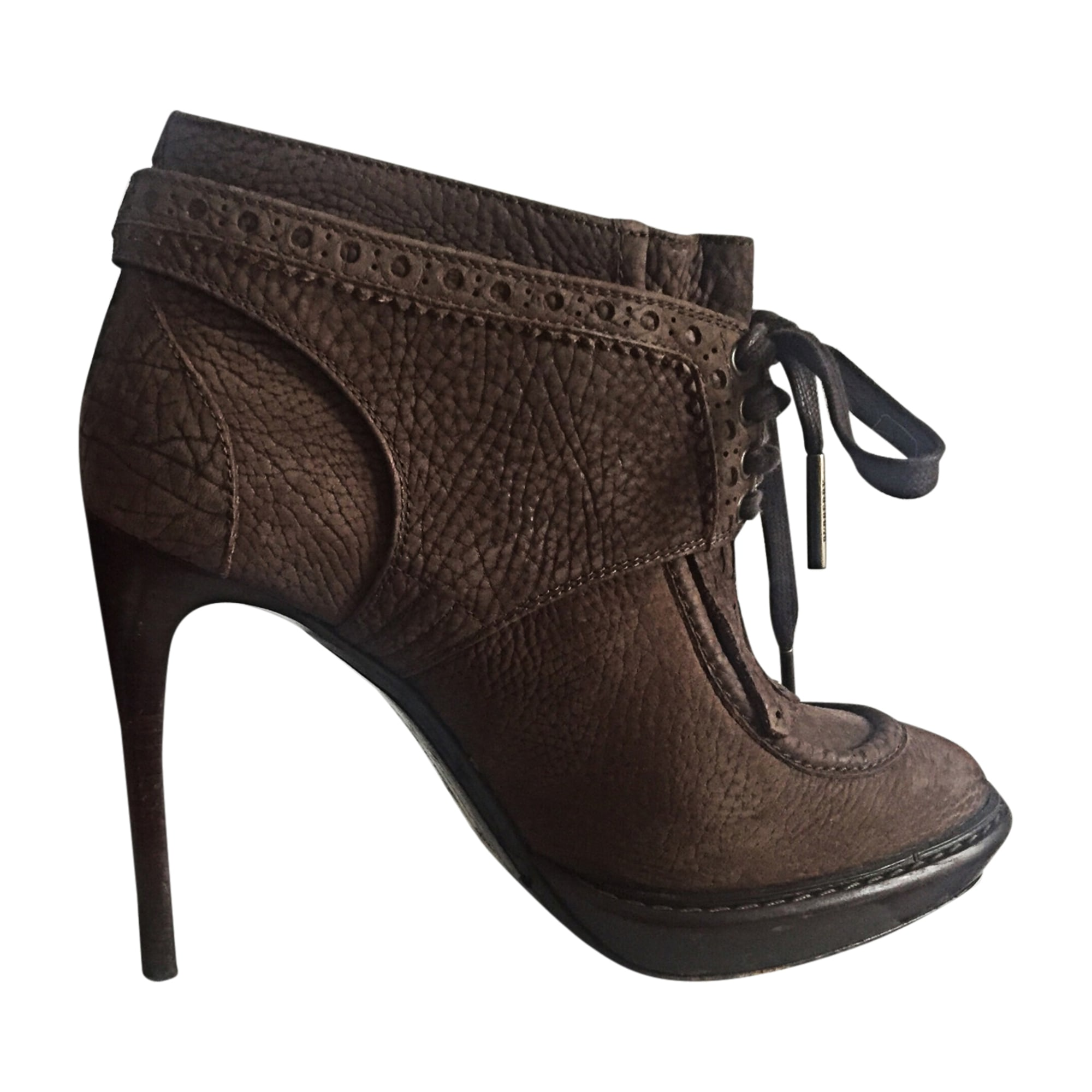 High Heel Ankle Boots BURBERRY Brown