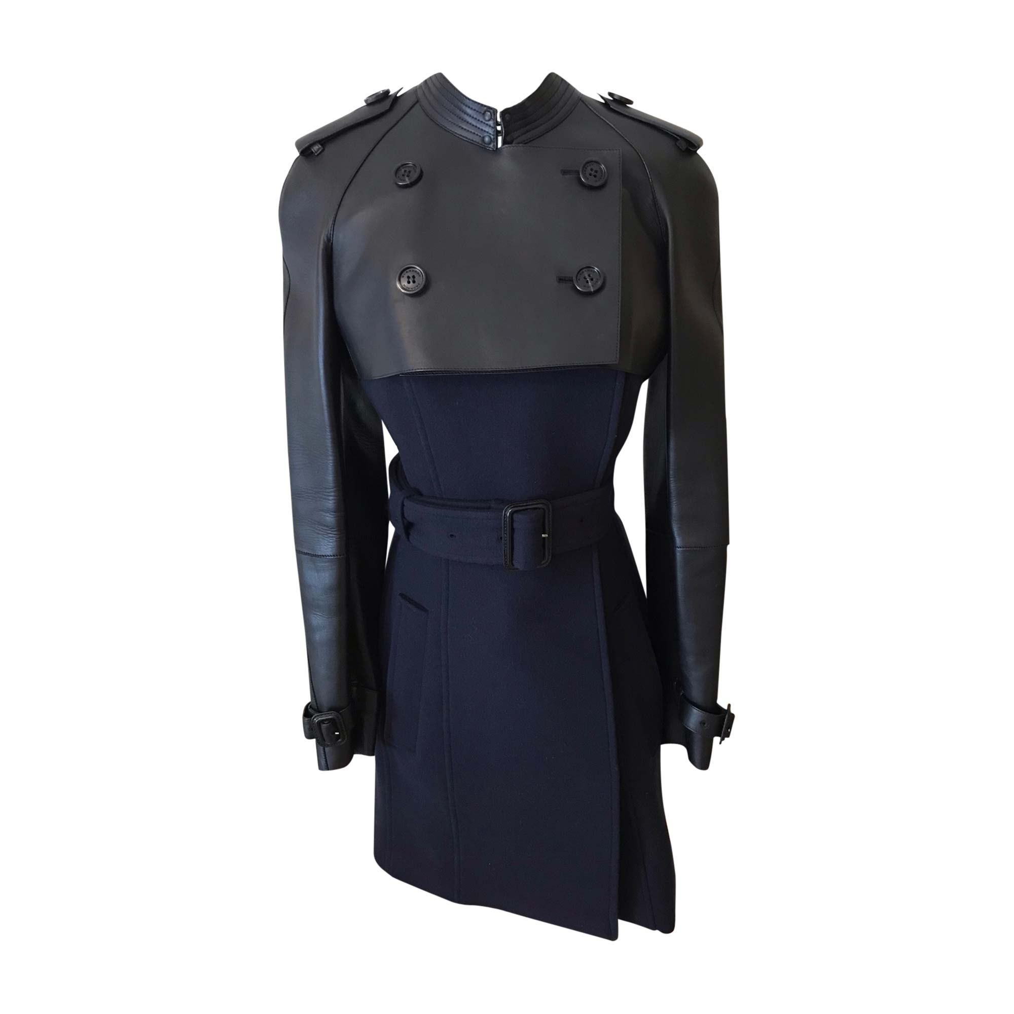 Coat BURBERRY Blue, navy, turquoise