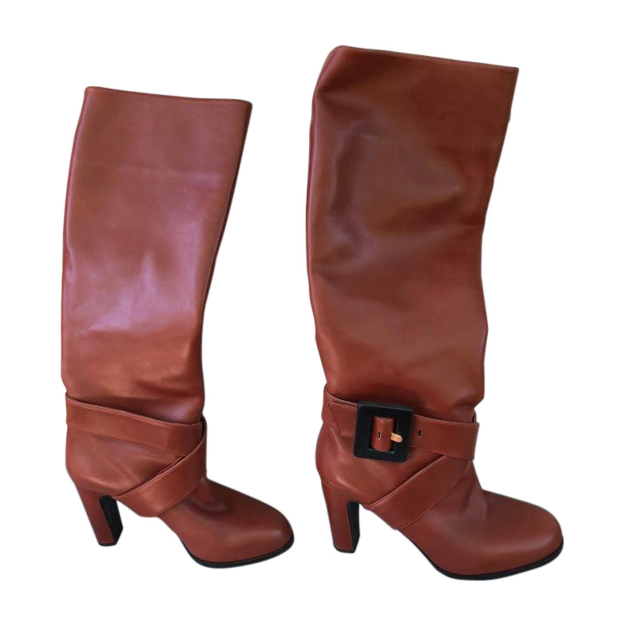 High Heel Boots HERMÈS Brown