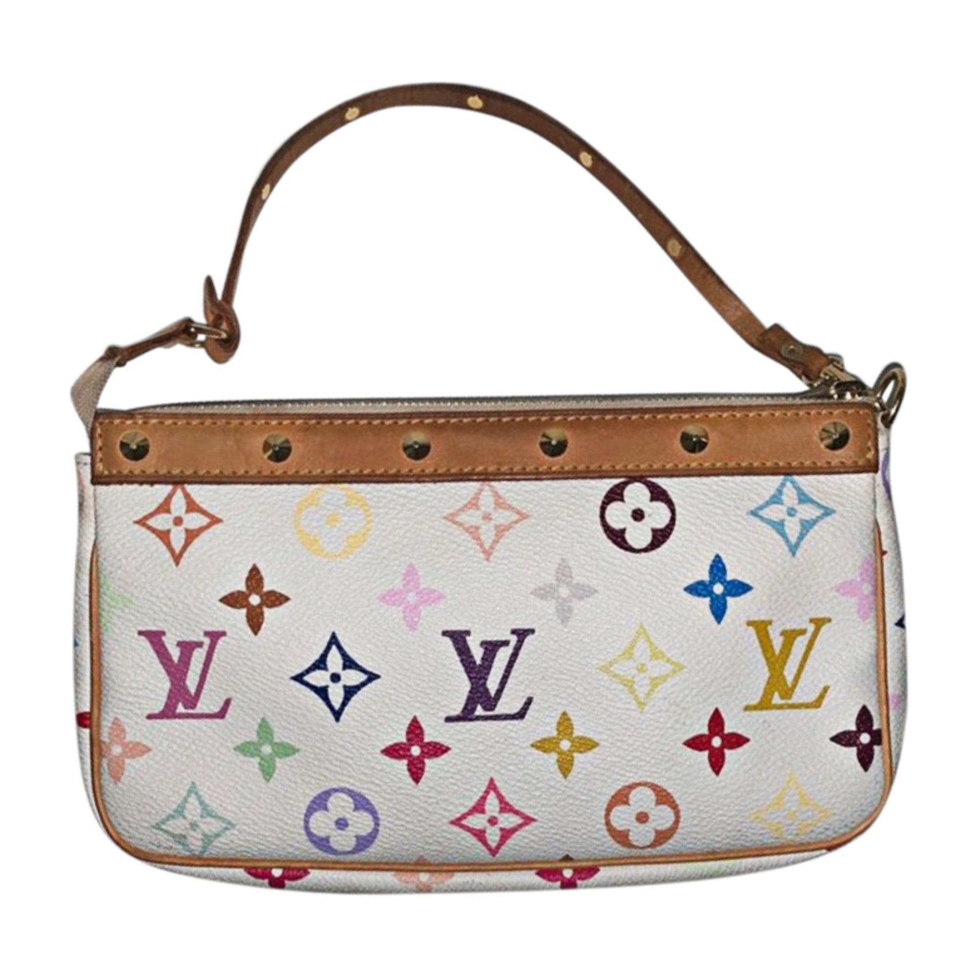 Leather Handbag LOUIS VUITTON White, off-white, ecru