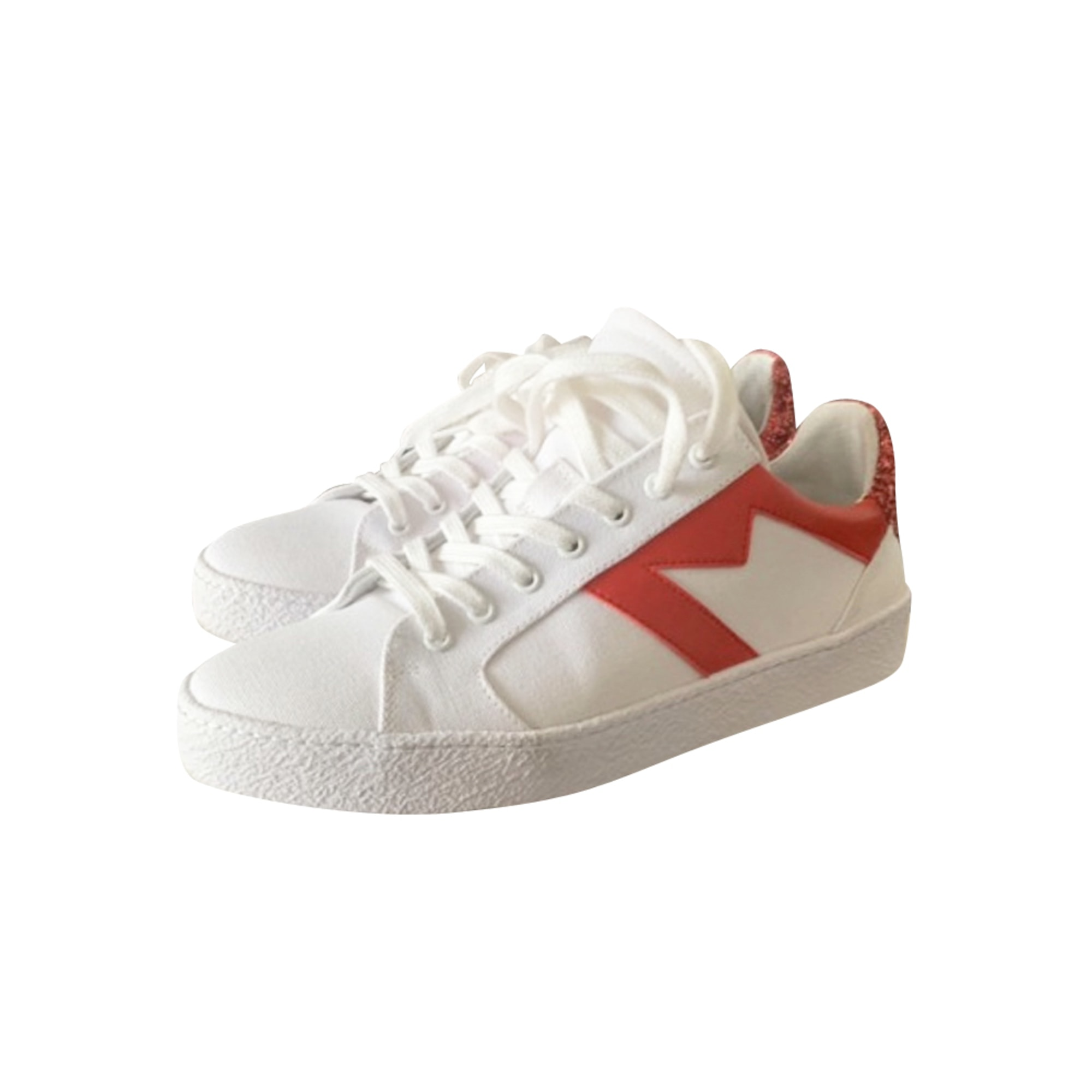 Sneakers MAJE White, off-white, ecru