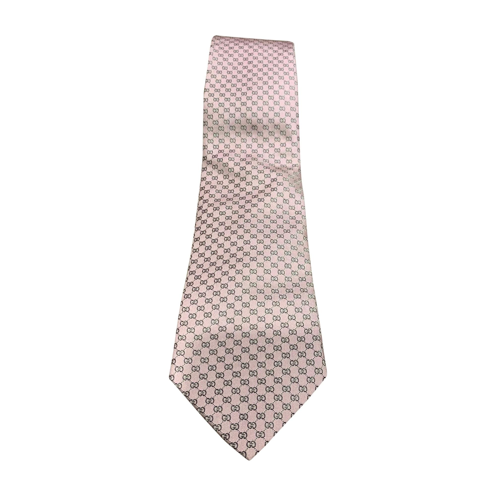 Tie GUCCI Pink, fuchsia, light pink