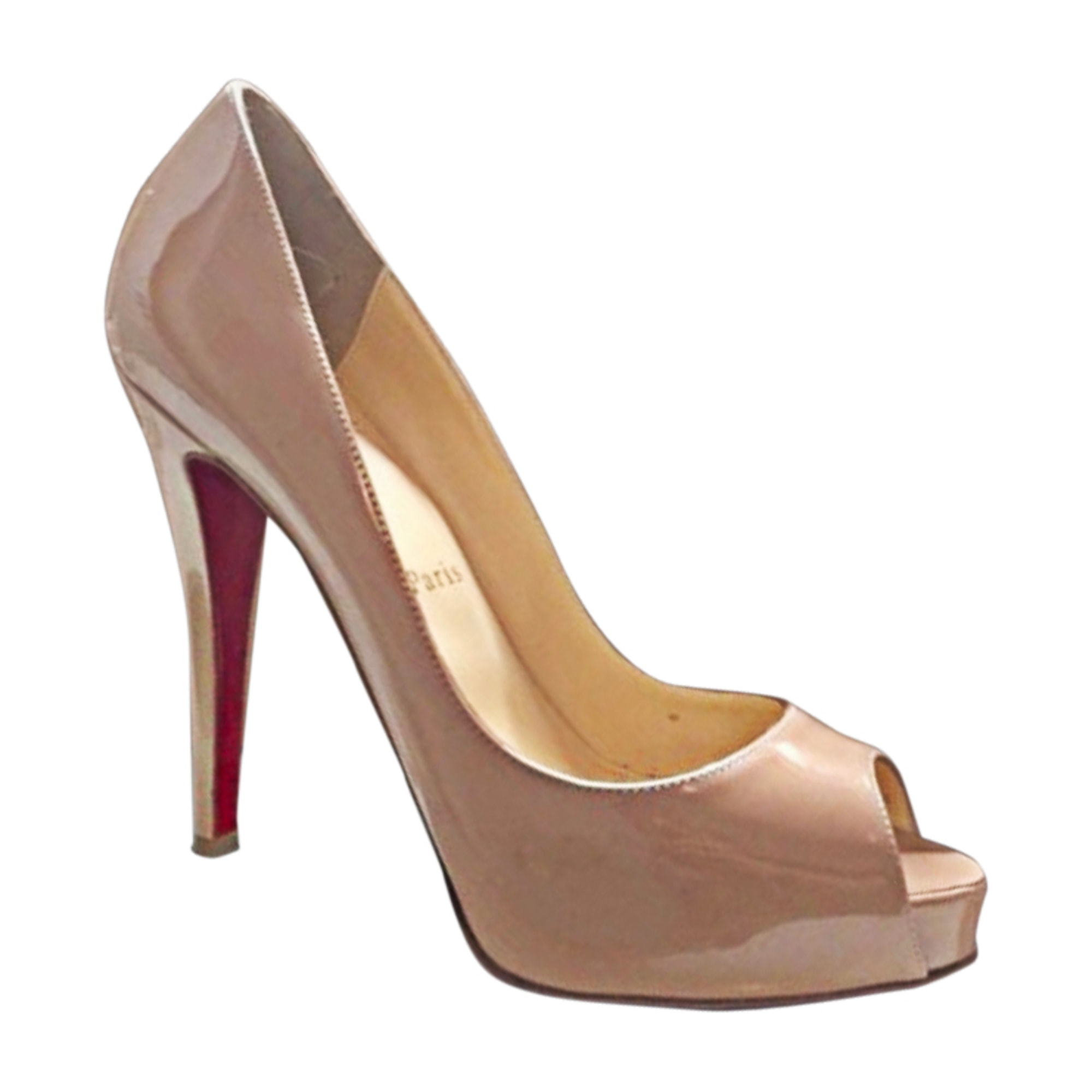 Peep-Toe Pumps CHRISTIAN LOUBOUTIN Very Prive Beige, camel