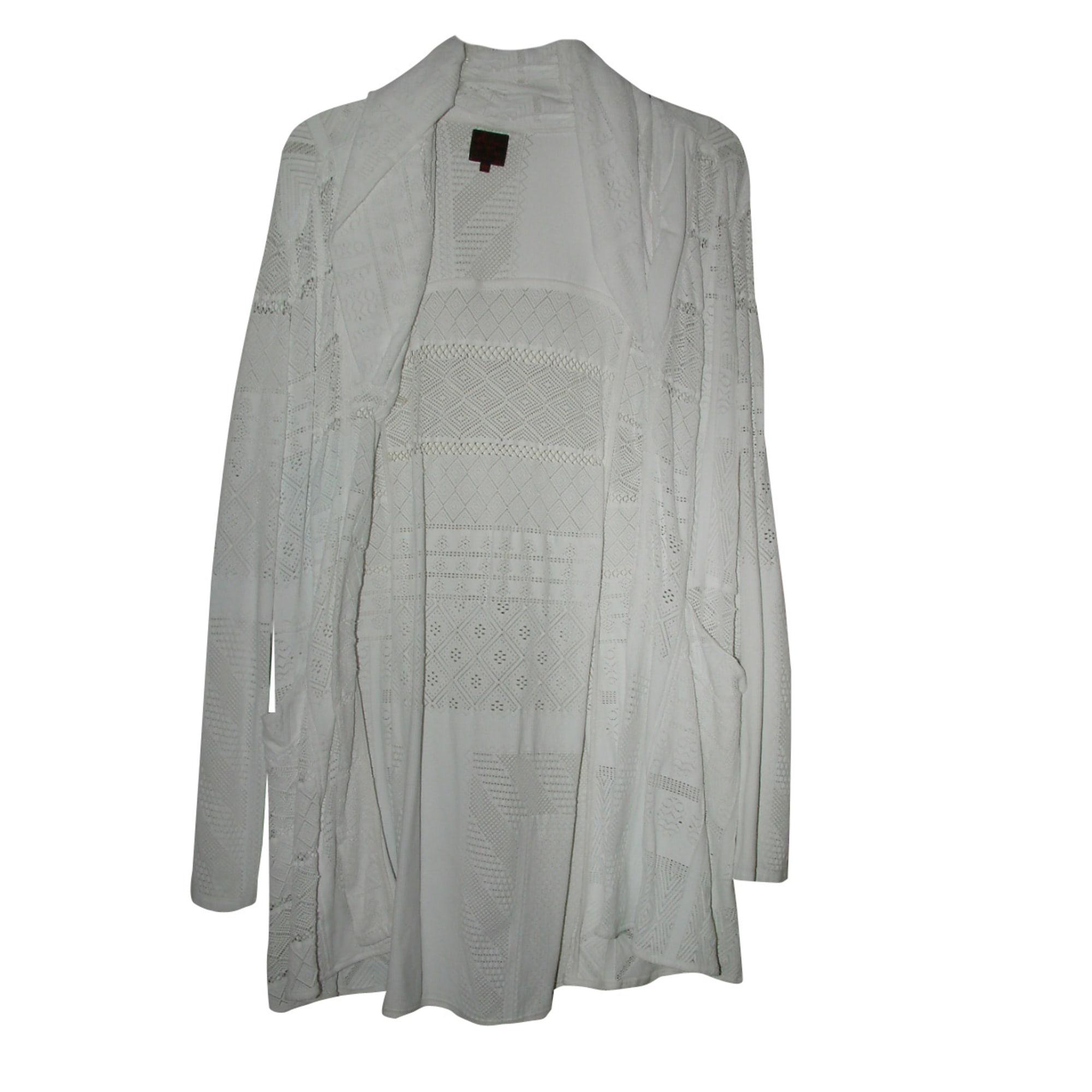 Vest, Cardigan AVENTURES DES TOILES White, off-white, ecru