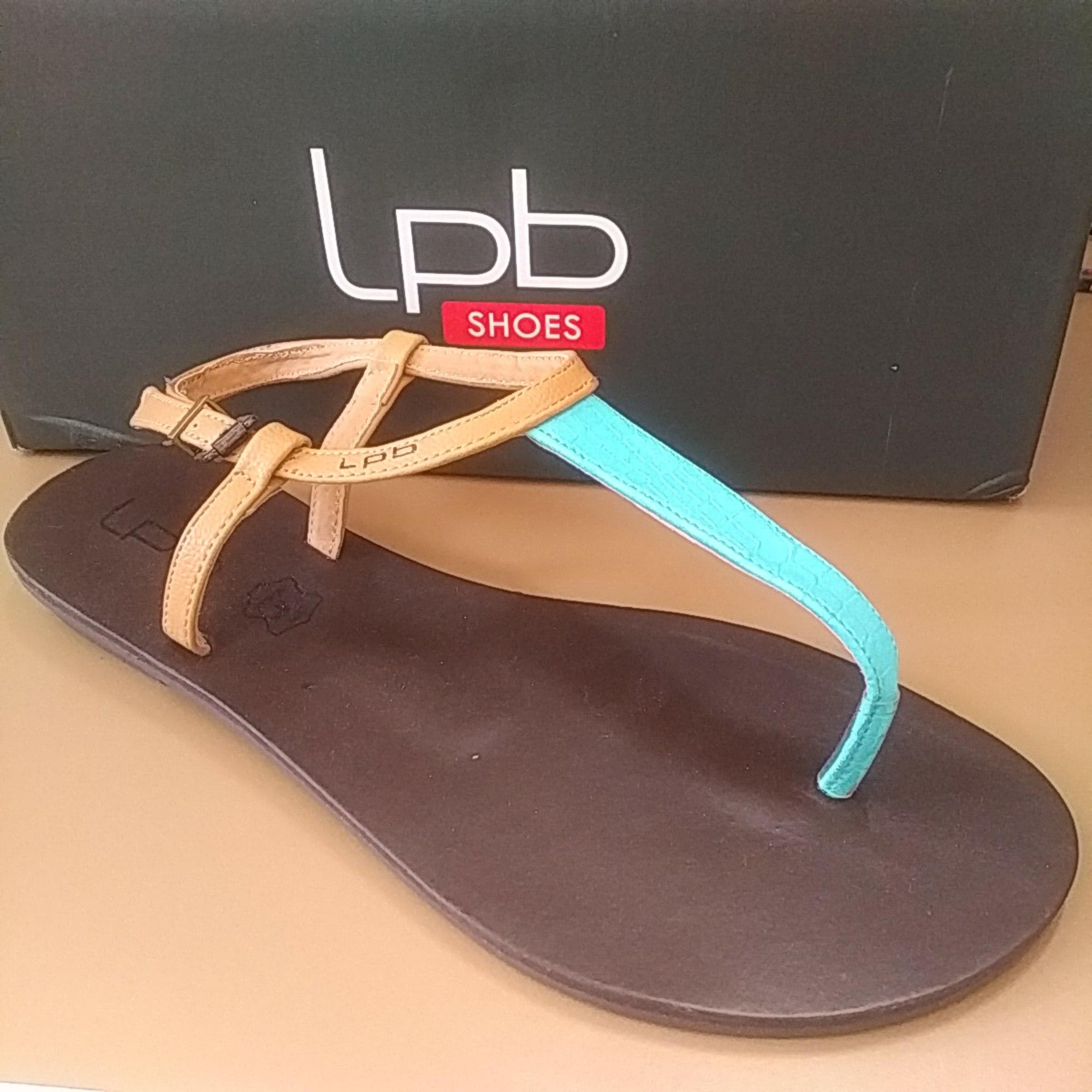 Sandales plates  LPB LES P'TITES BOMBES Bleu, bleu marine, bleu turquoise