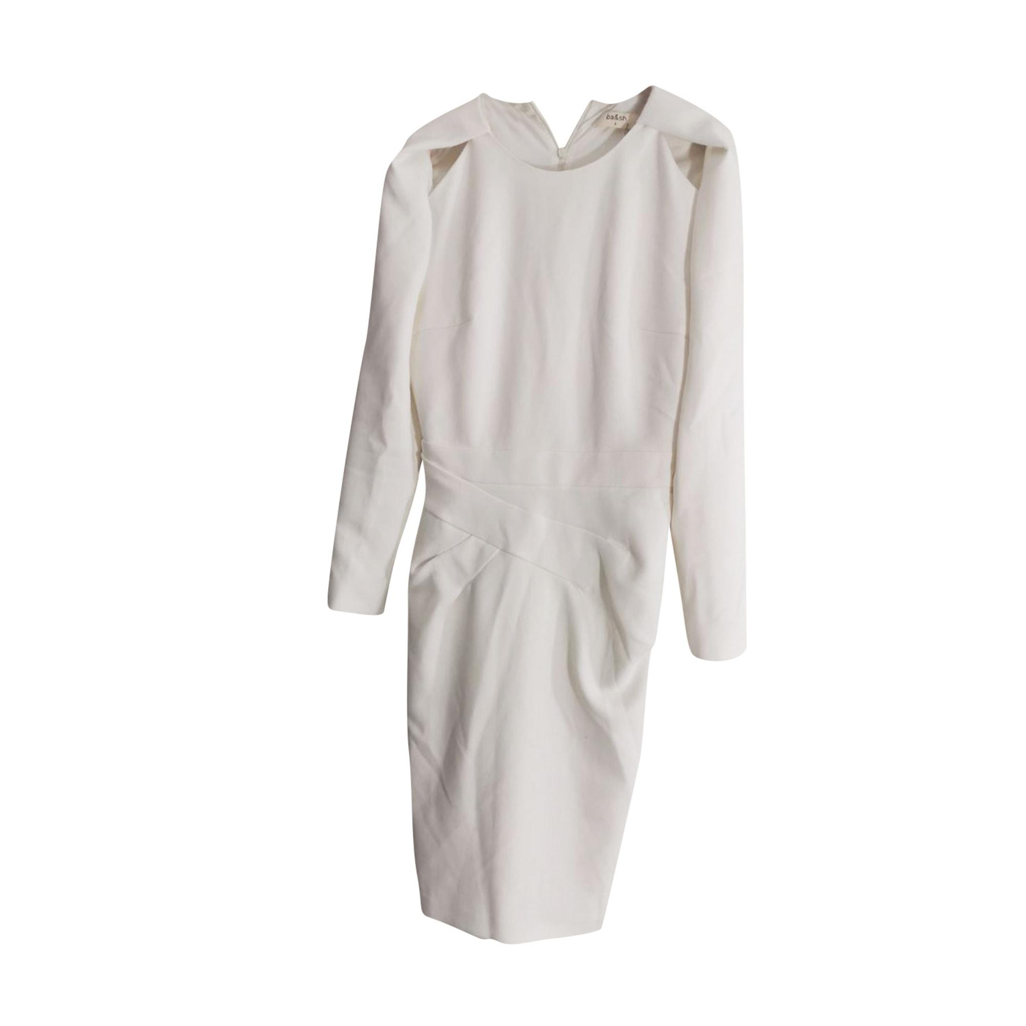 Midi Dress BA&SH White, off-white, ecru