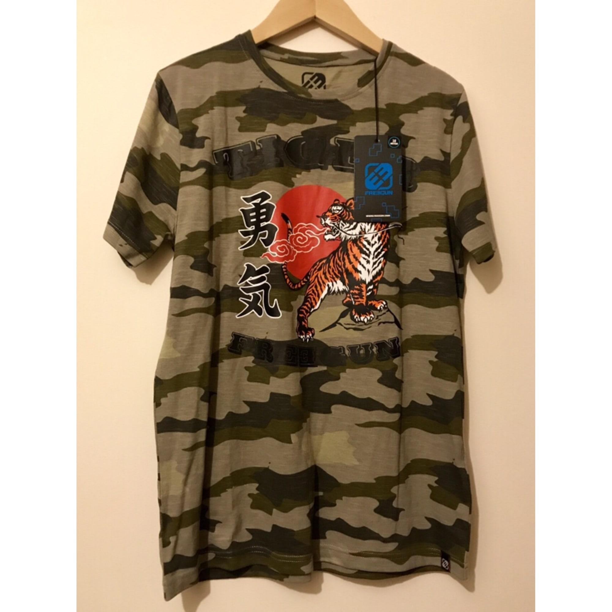 Tee-shirt FREEGUN Kaki