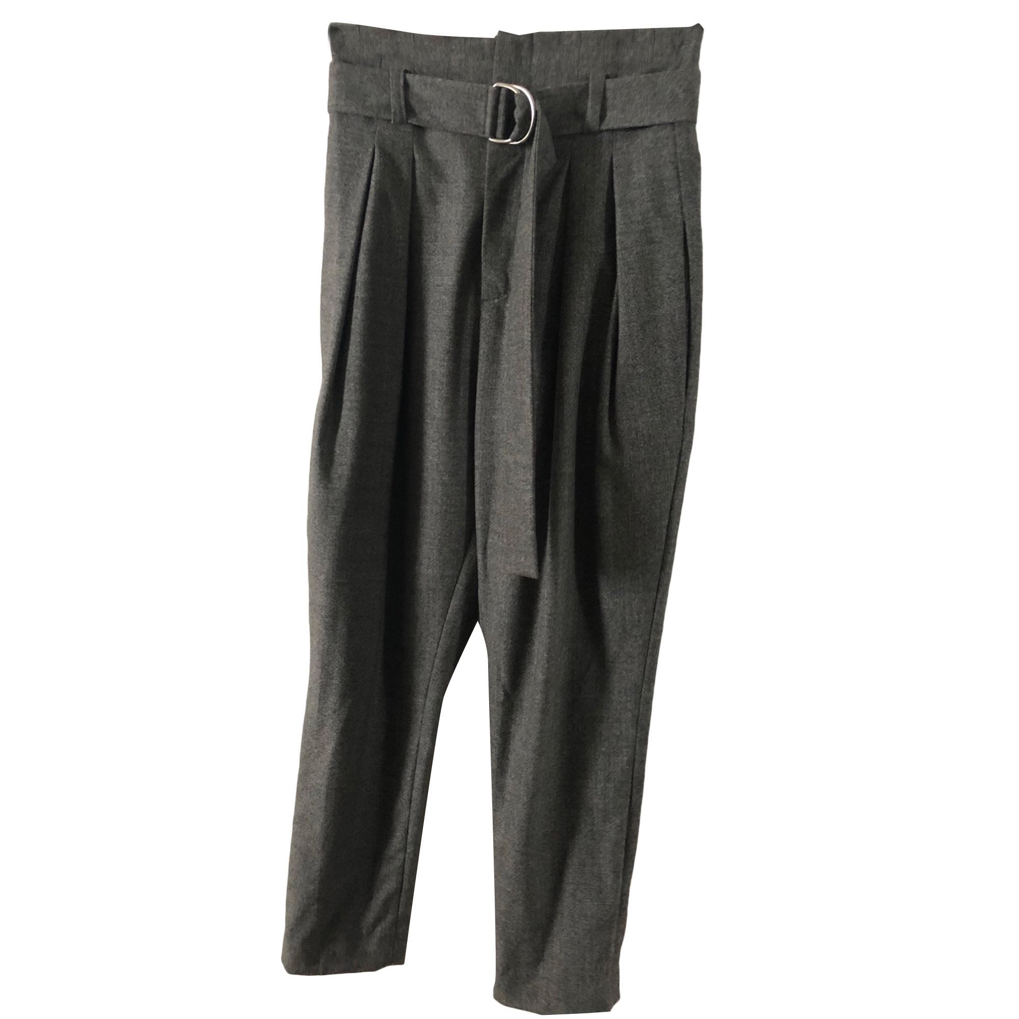 Pantalon carotte IRO Gris, anthracite