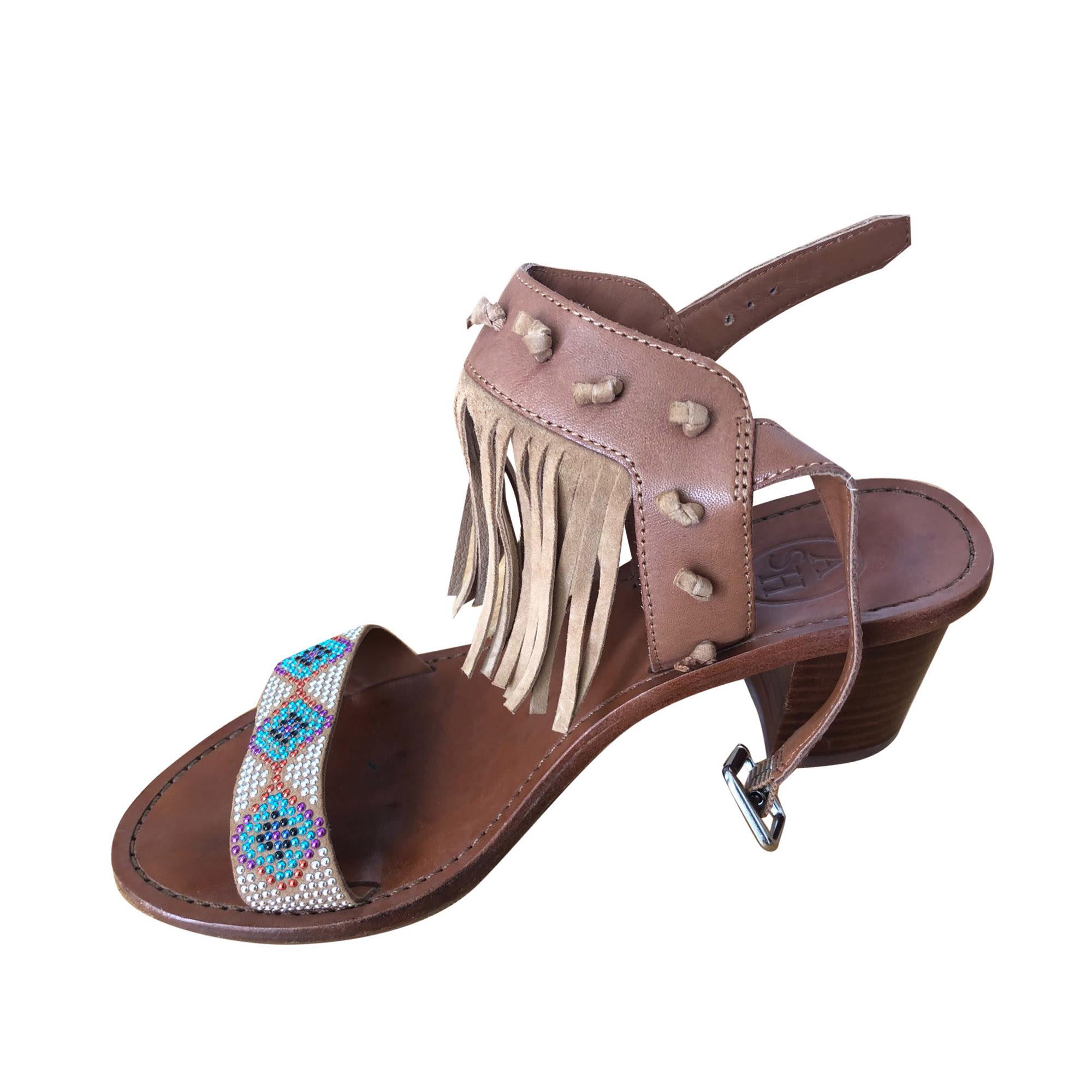 Heeled Sandals ASH Golden, bronze, copper