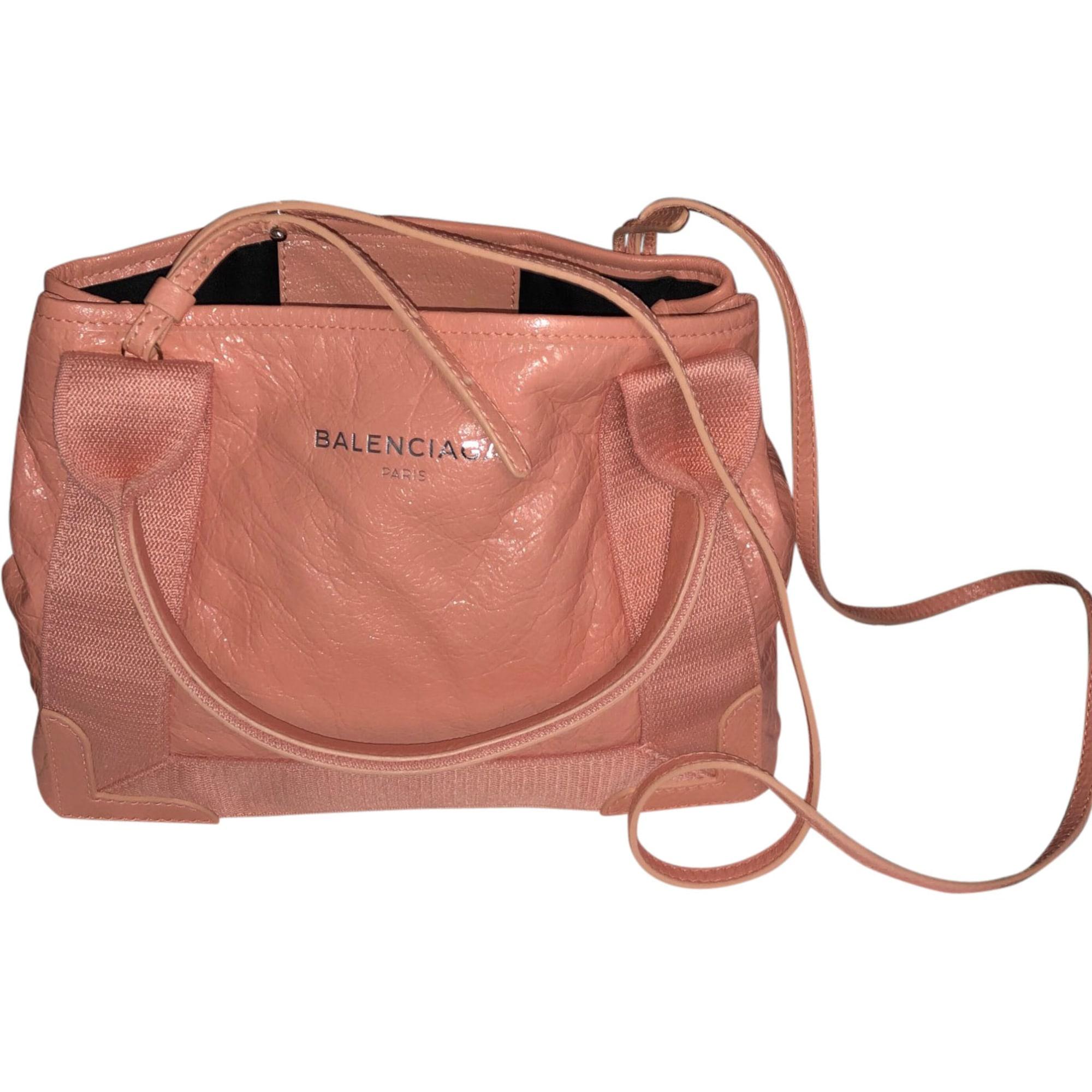 Leather Shoulder Bag BALENCIAGA Pink, fuchsia, light pink