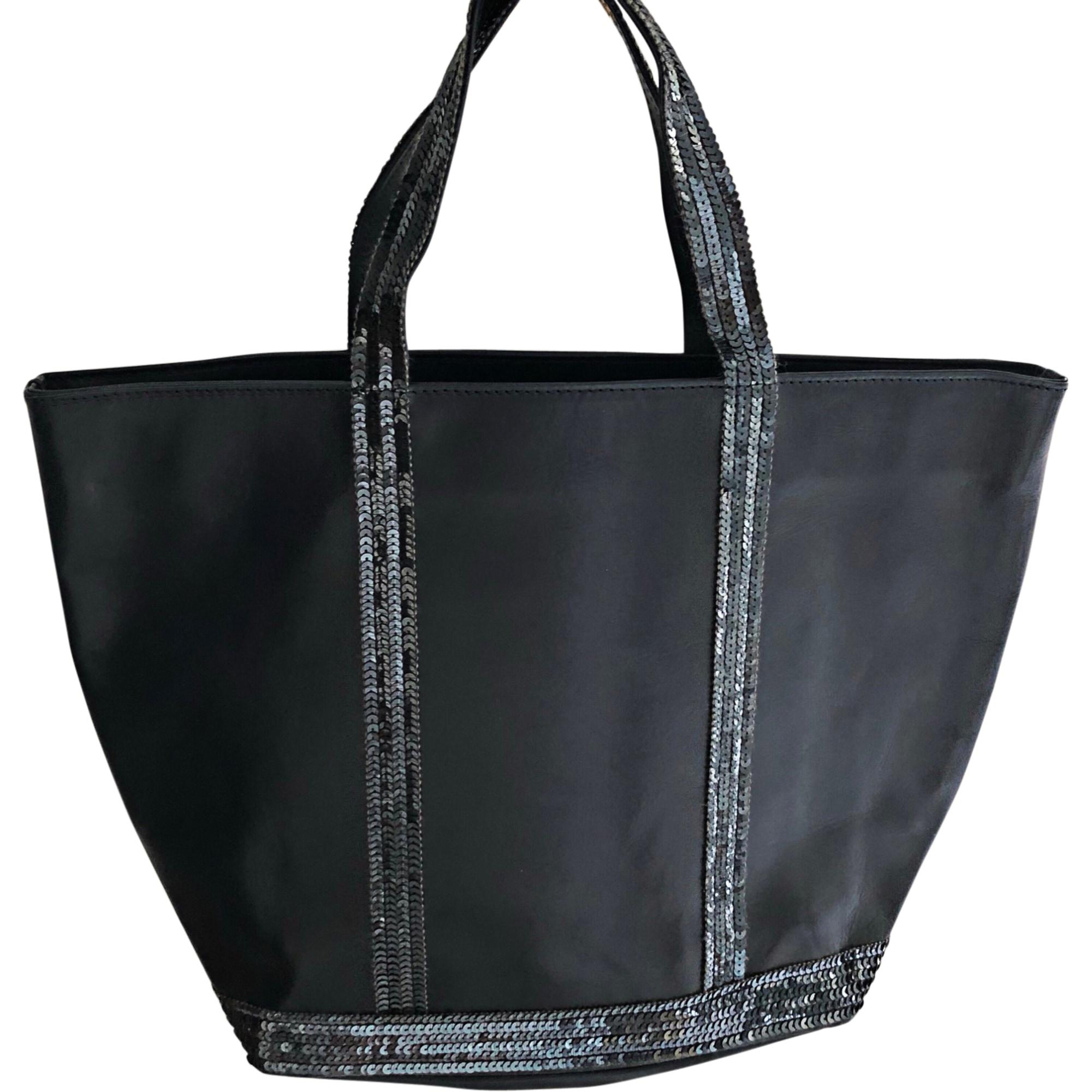 Leather Handbag VANESSA BRUNO Bleu nuit
