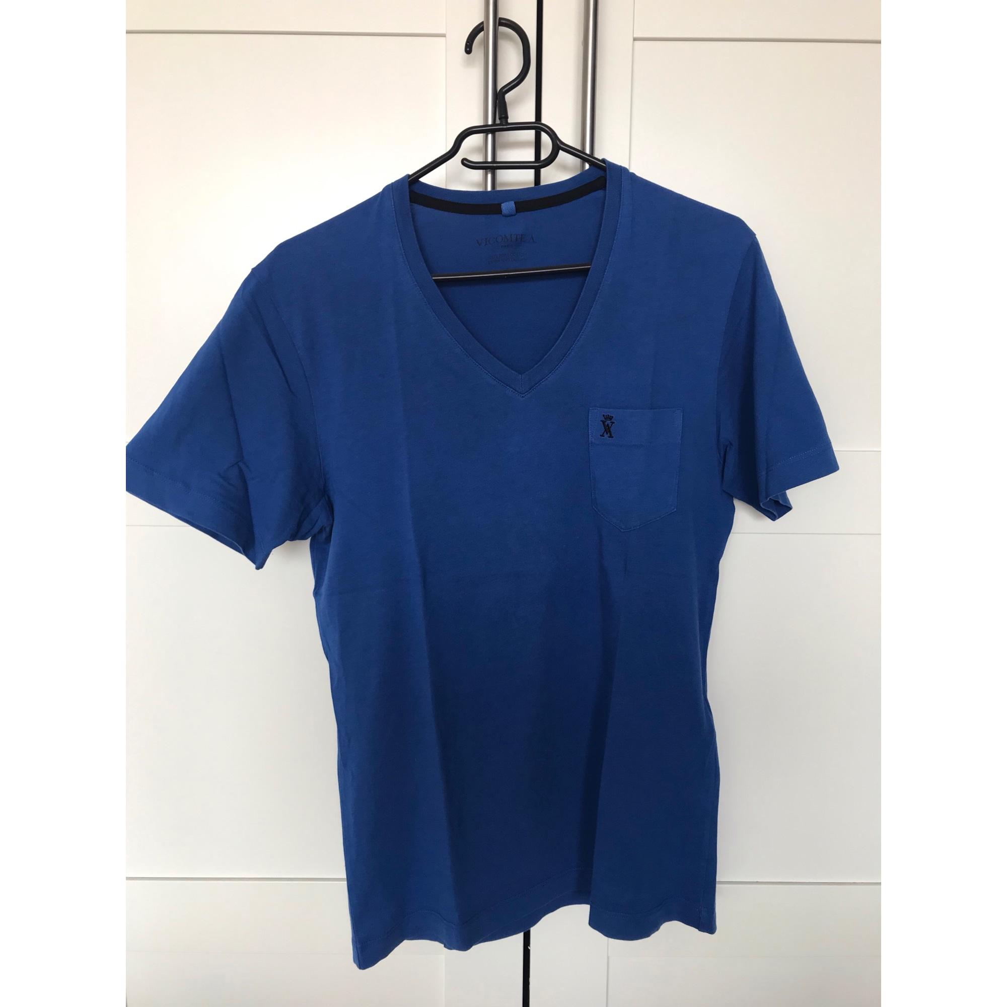 Tee-shirt VICOMTE A. Bleu, bleu marine, bleu turquoise