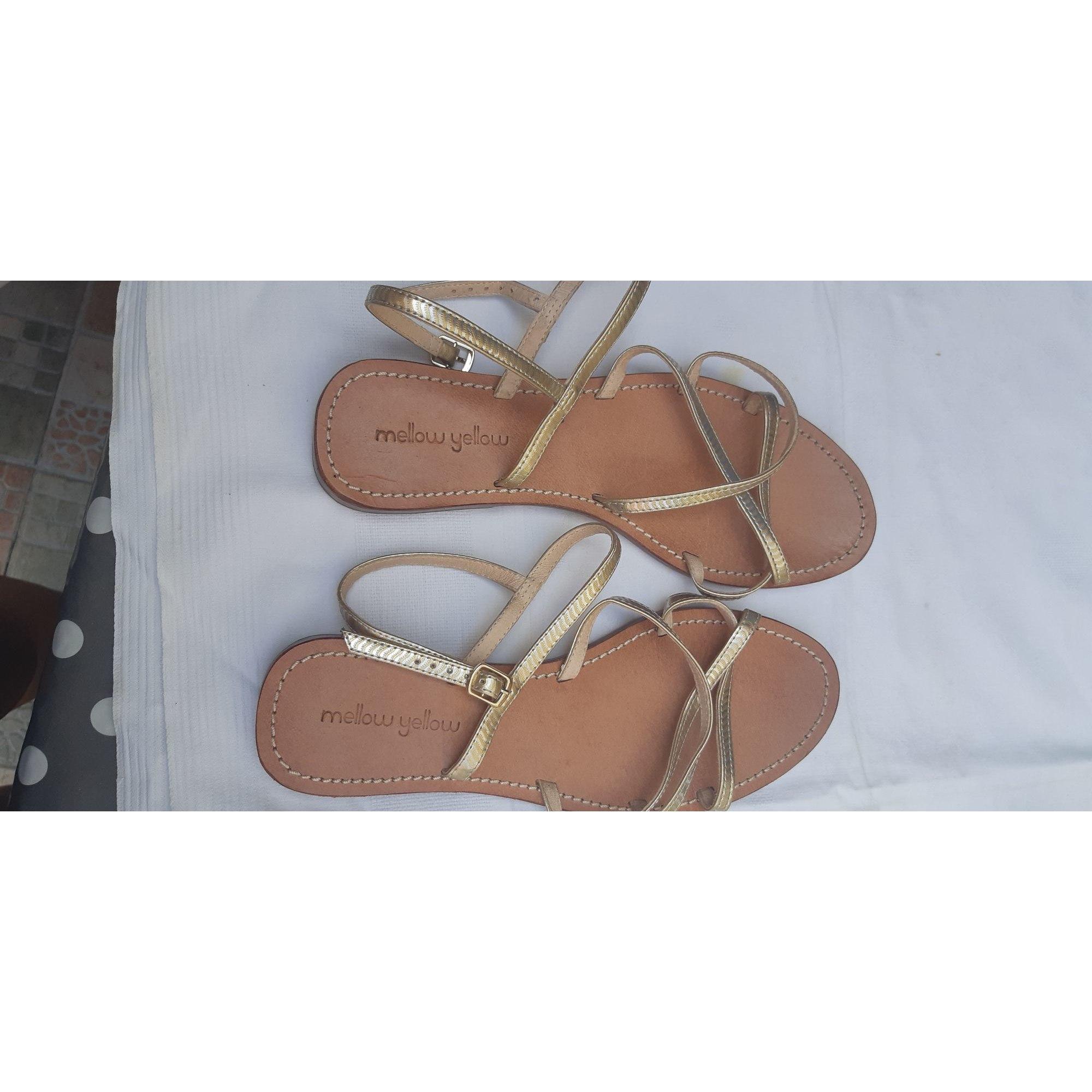Sandales plates  MELLOW YELLOW Doré, bronze, cuivre