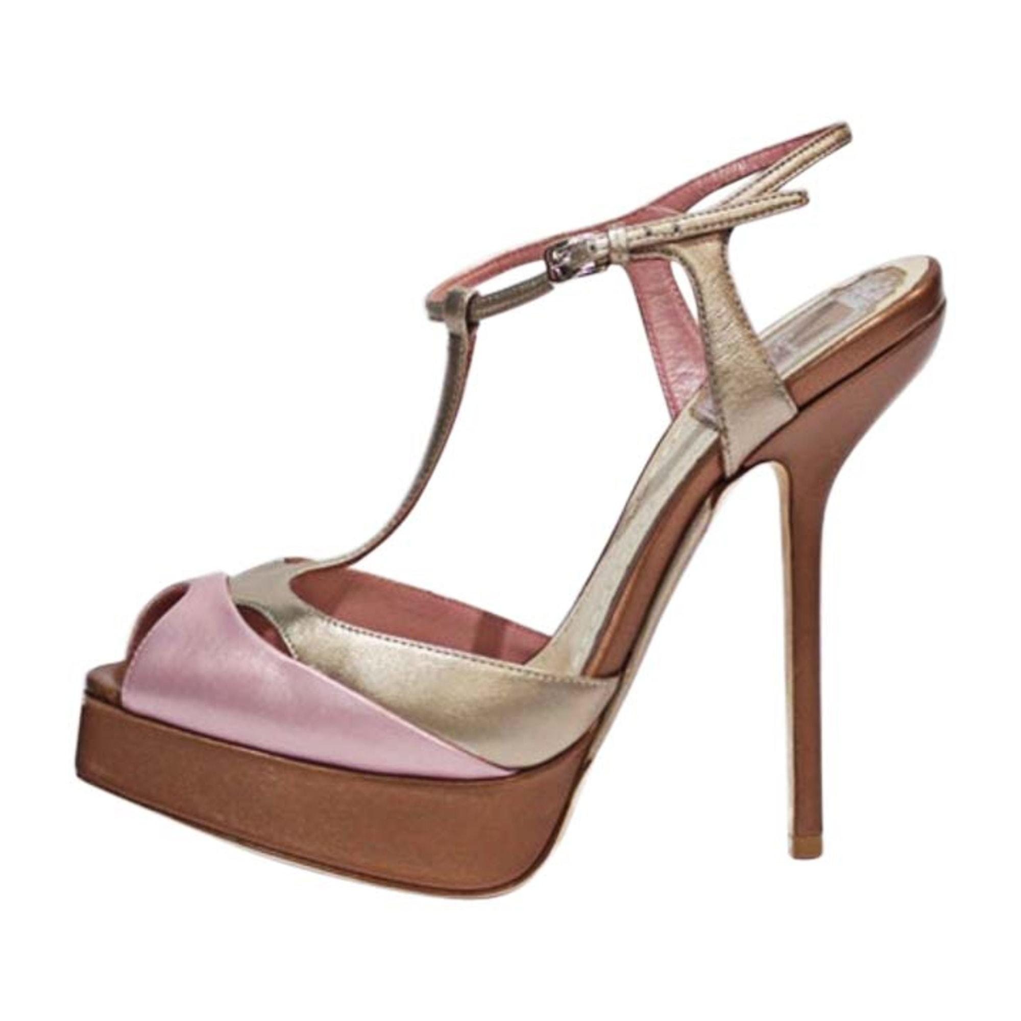Sandales à talons DIOR Doré, bronze, cuivre