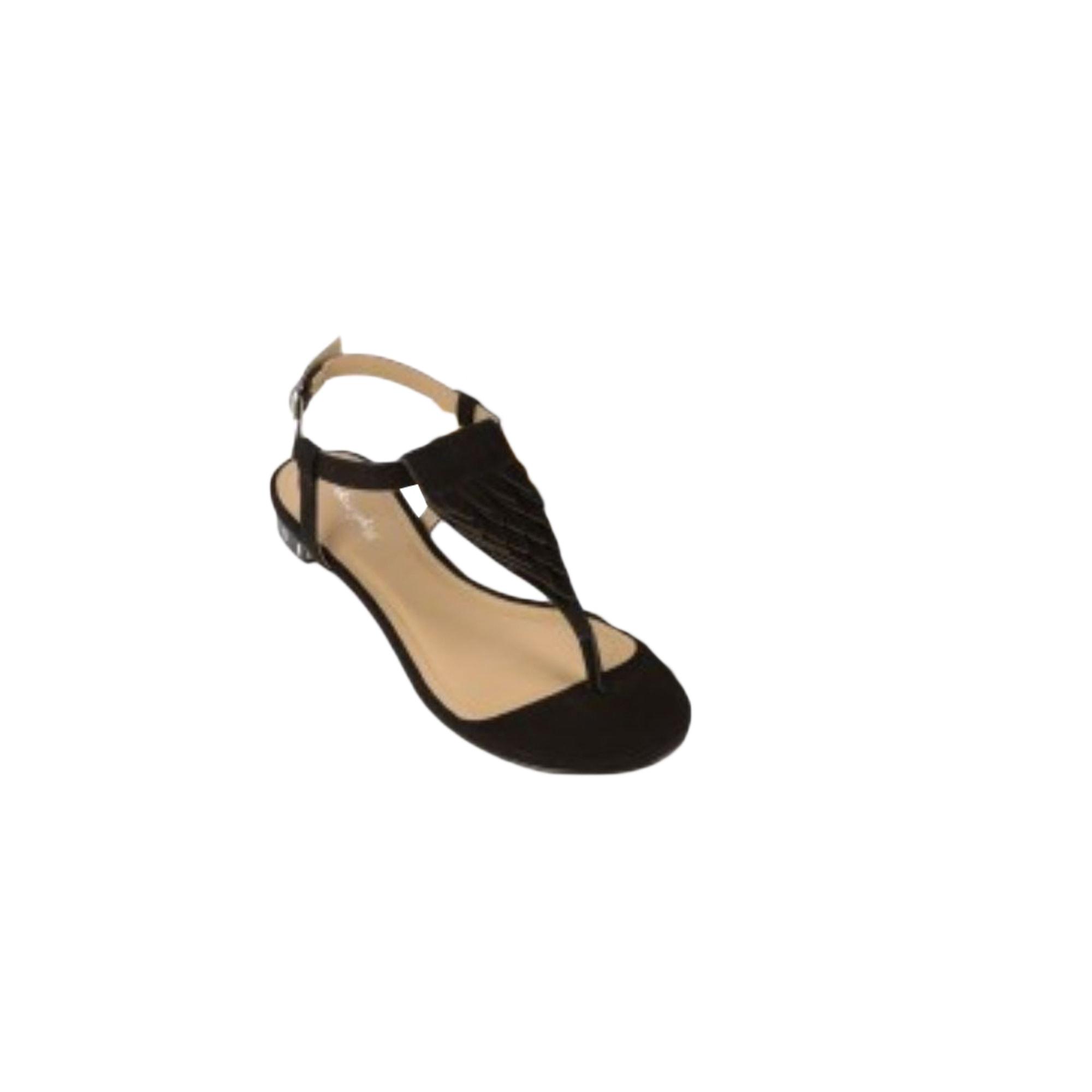 Sandales plates  MELLOW YELLOW Noir
