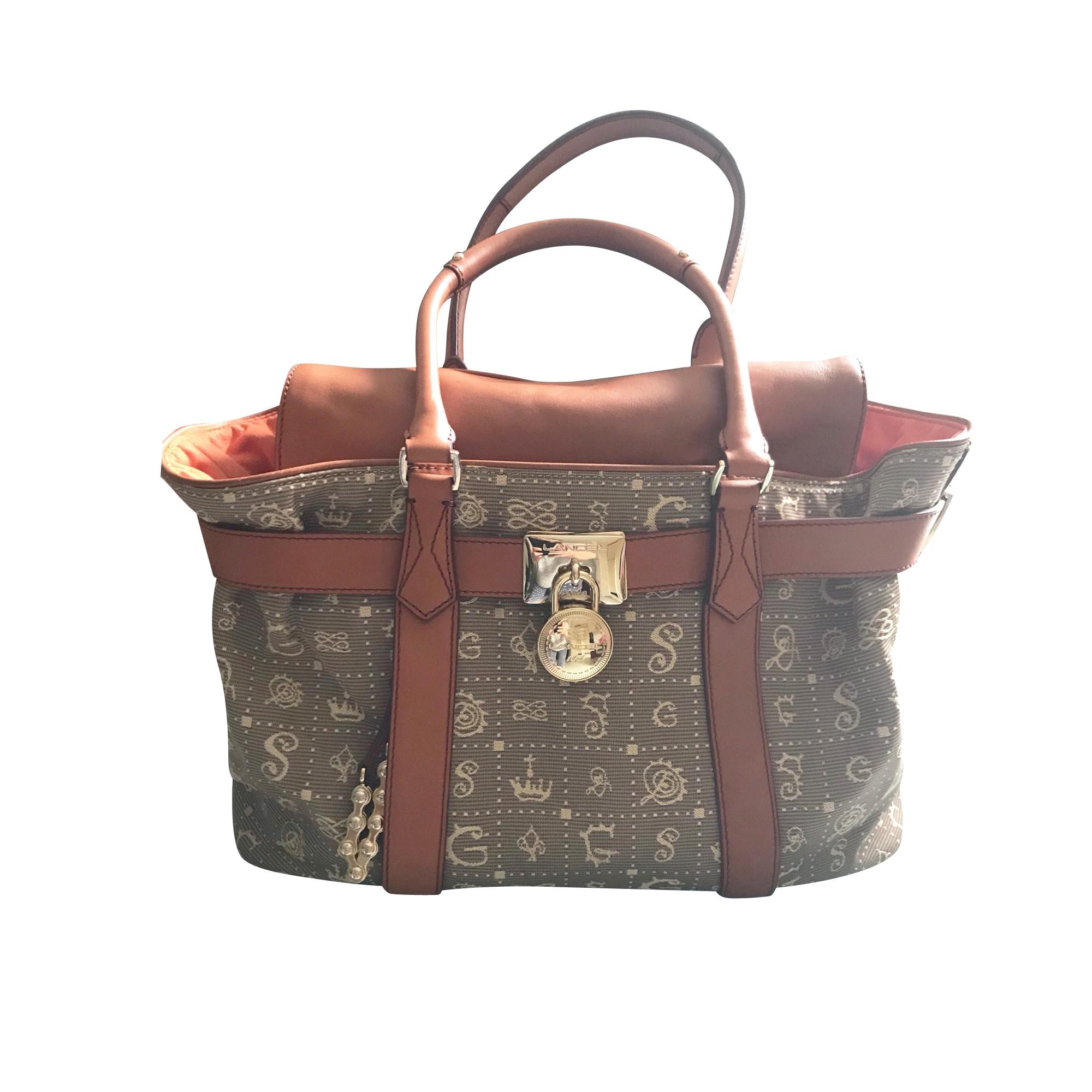 Non-Leather Handbag LANCEL Beige, camel
