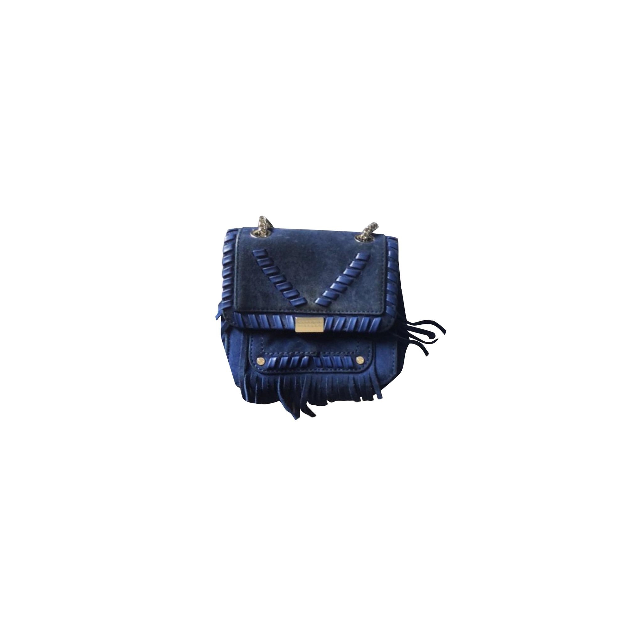 Leather Shoulder Bag CLAUDIE PIERLOT Blue, navy, turquoise