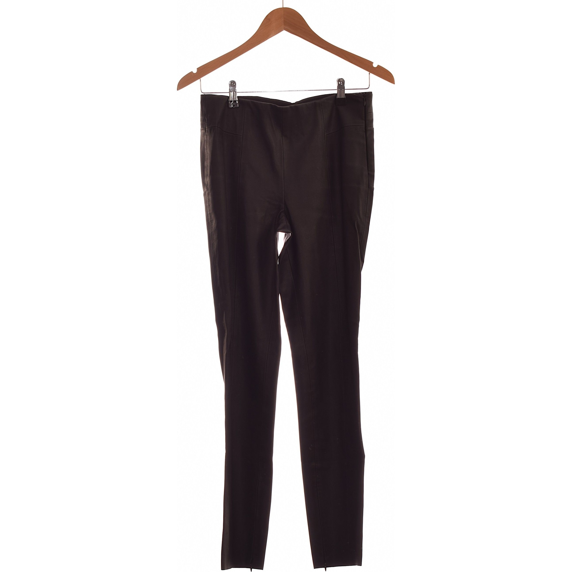 Straight Leg Pants ZARA Black