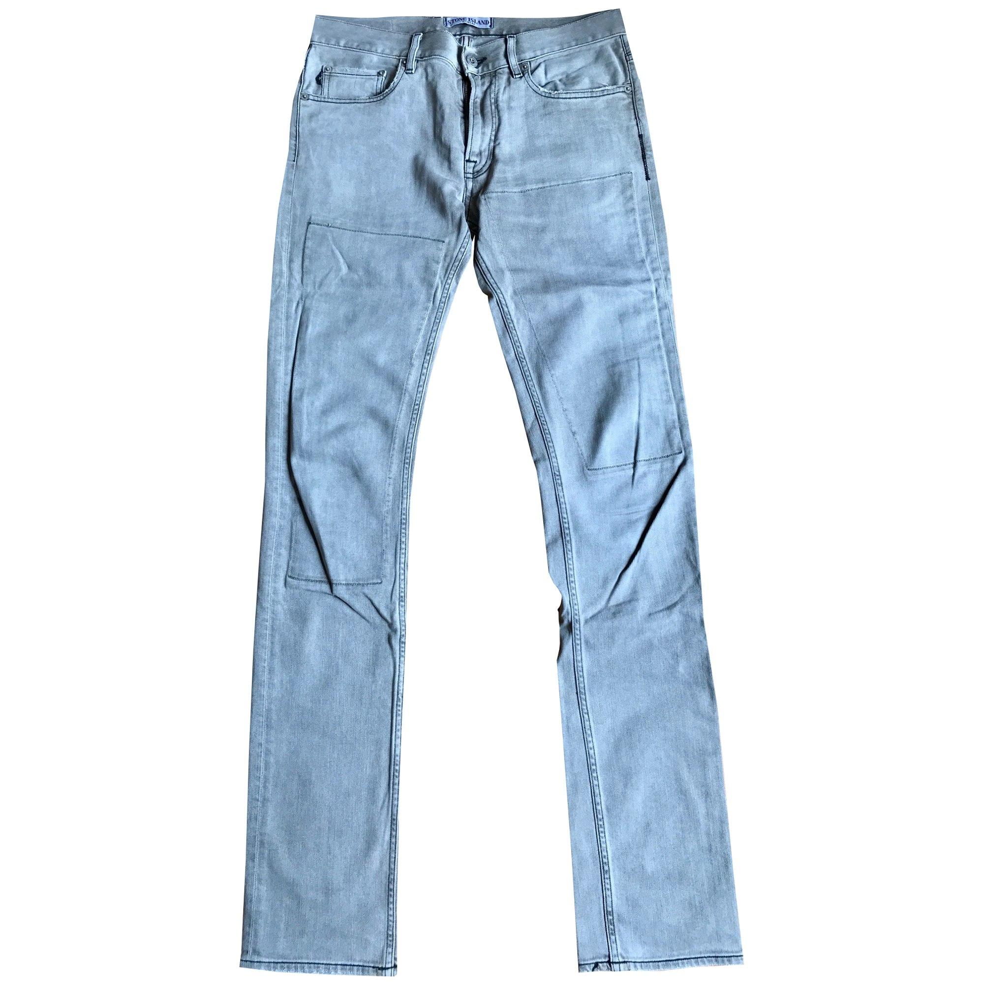 Jeans slim STONE ISLAND Gris, anthracite