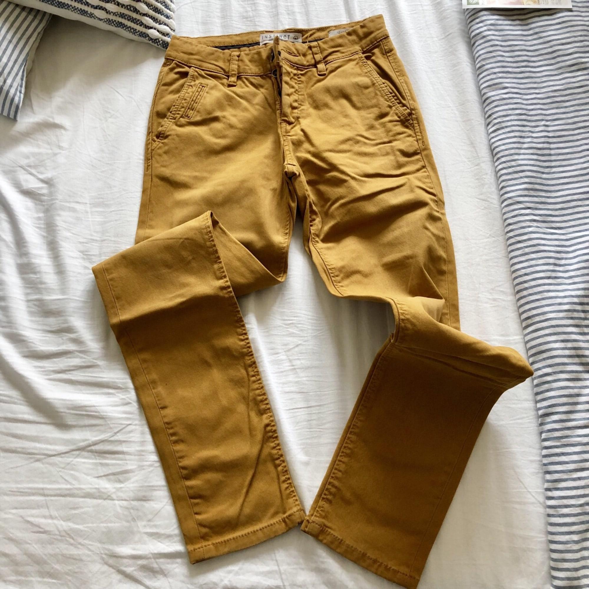 Pantalon slim BONOBO Jaune