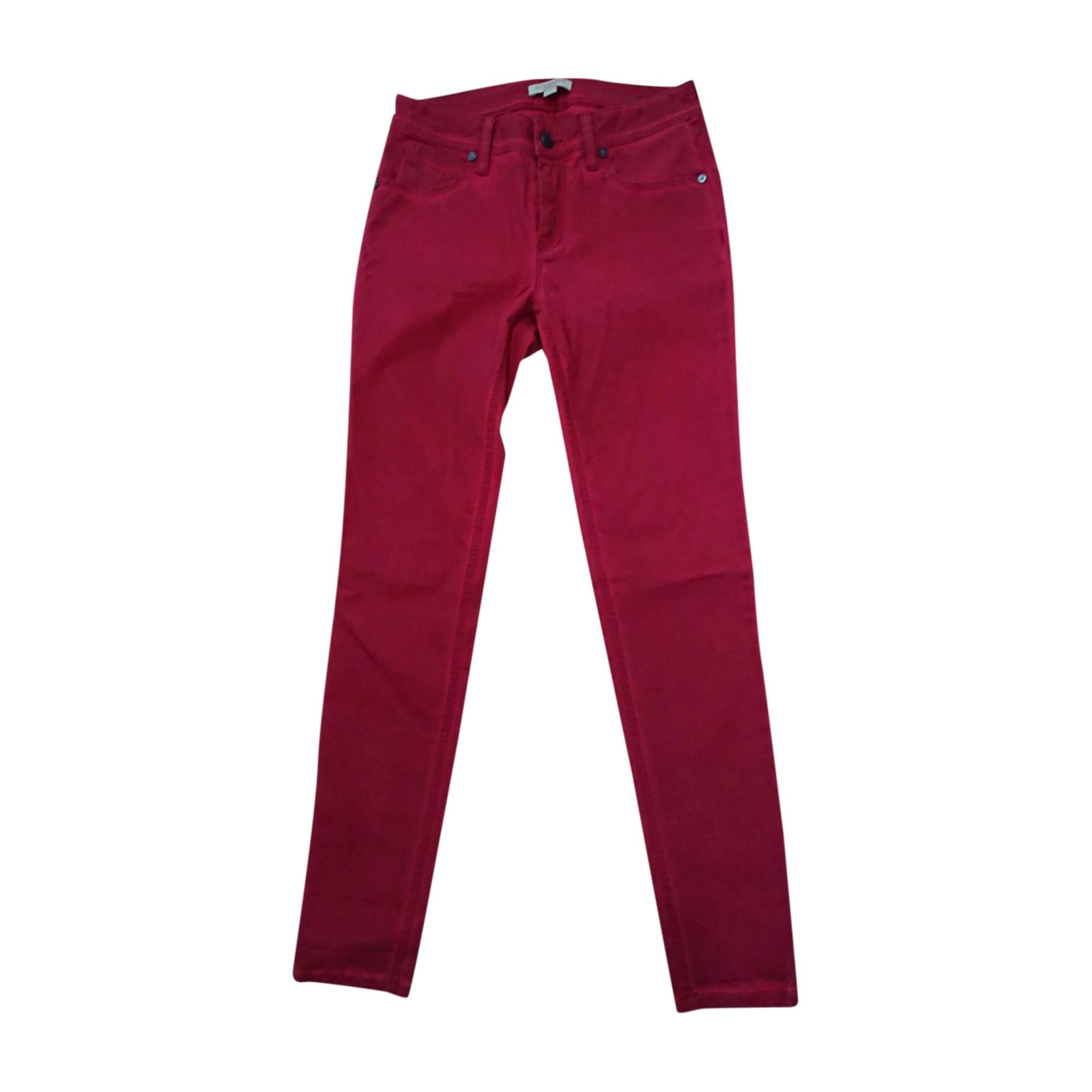 Jeans slim BURBERRY Rouge, bordeaux