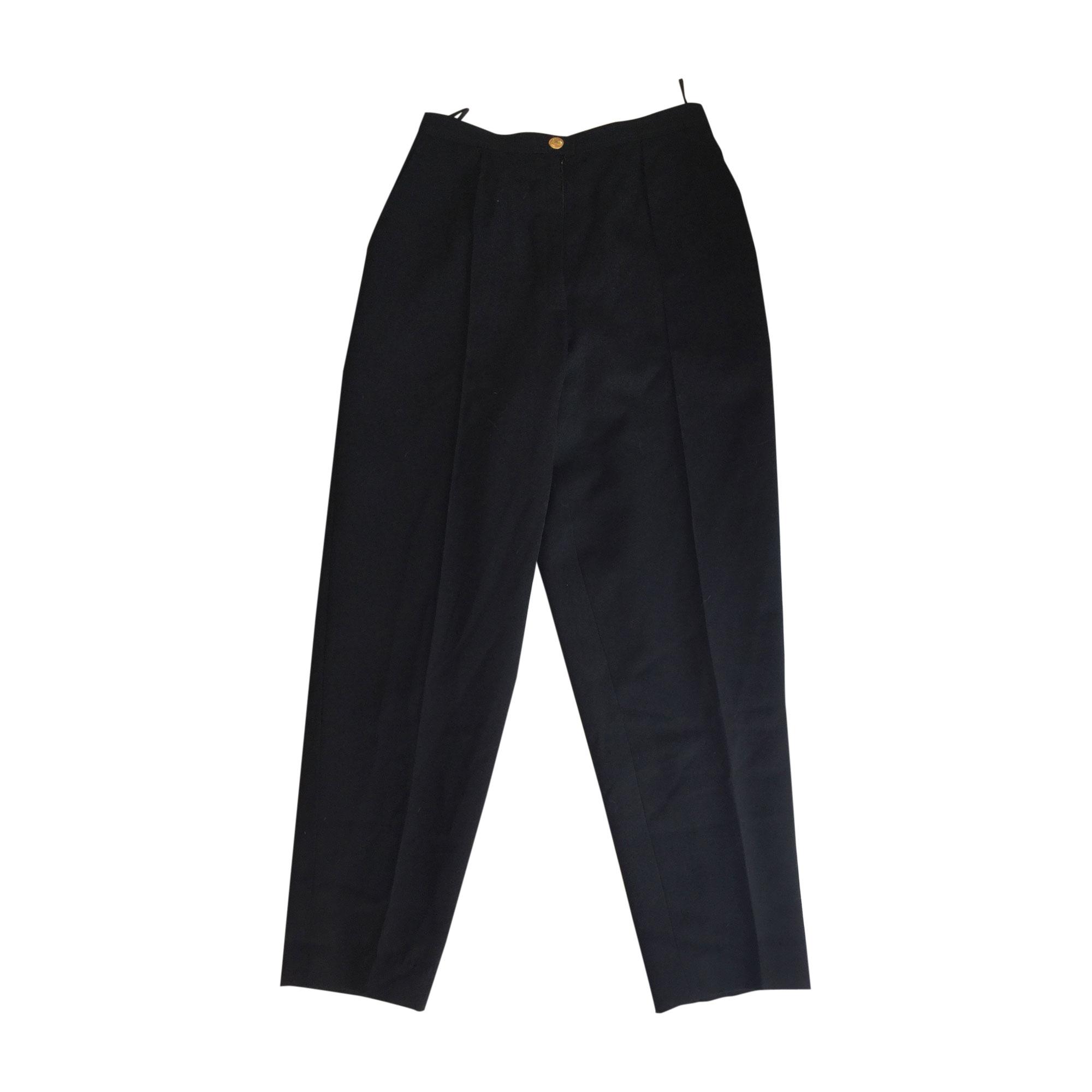 Straight Leg Pants CHANEL Black