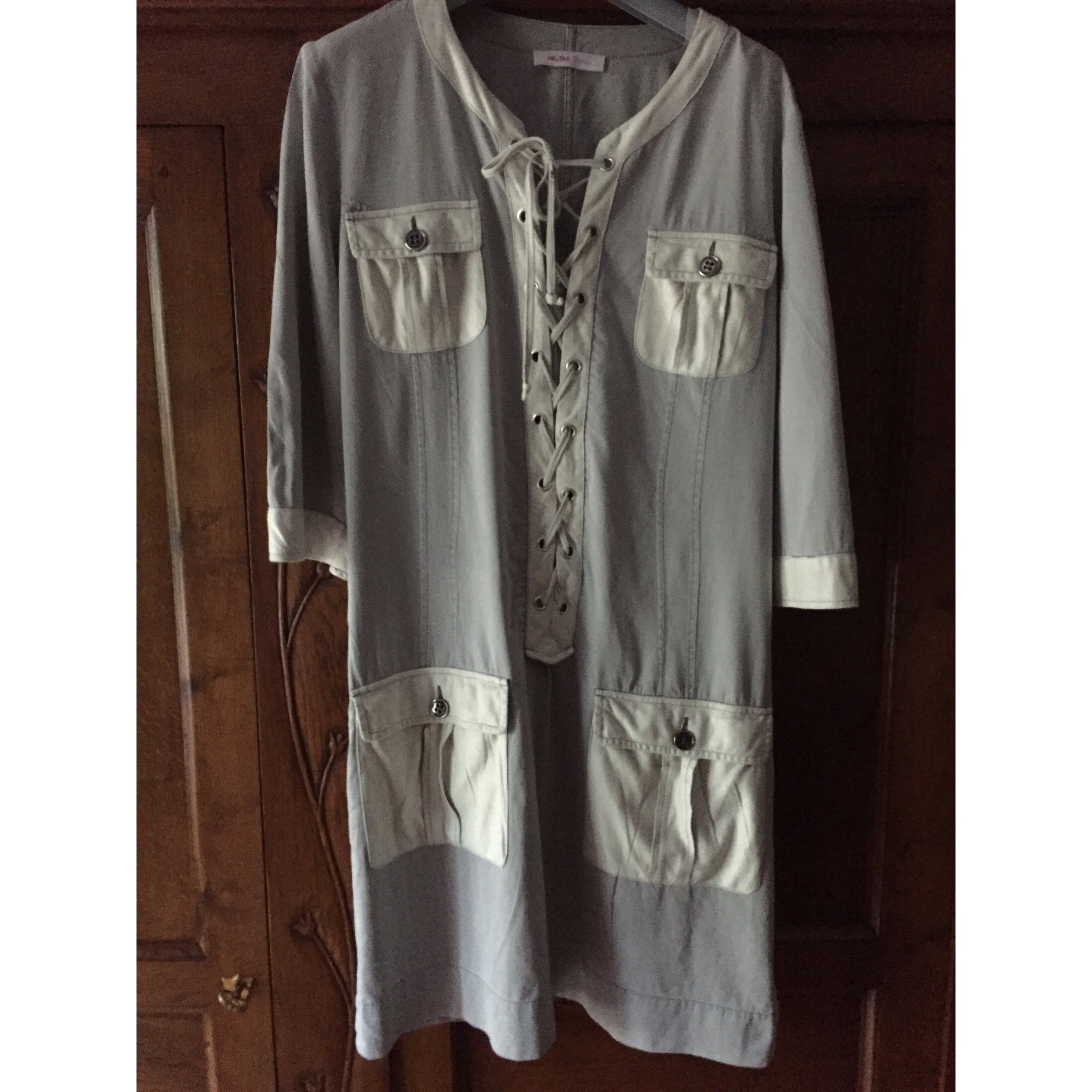 Robe courte HELENA SOREL Gris, anthracite