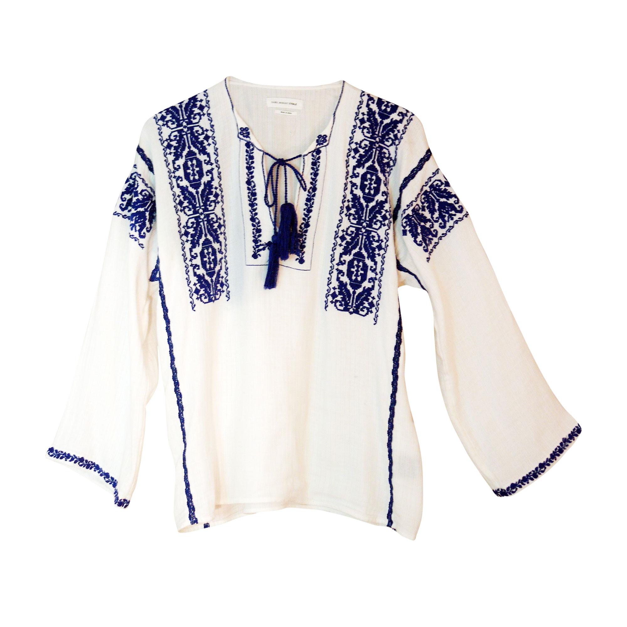 Bluse ISABEL MARANT ETOILE Weiß, elfenbeinfarben