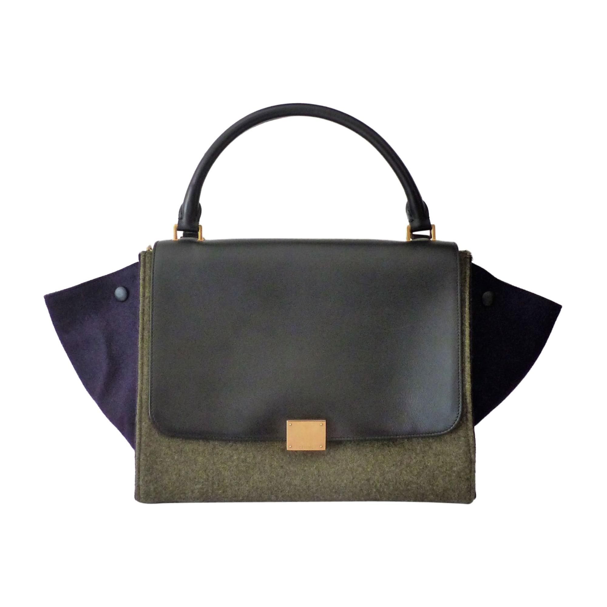 Leather Handbag CÉLINE Trapèze Multicolor
