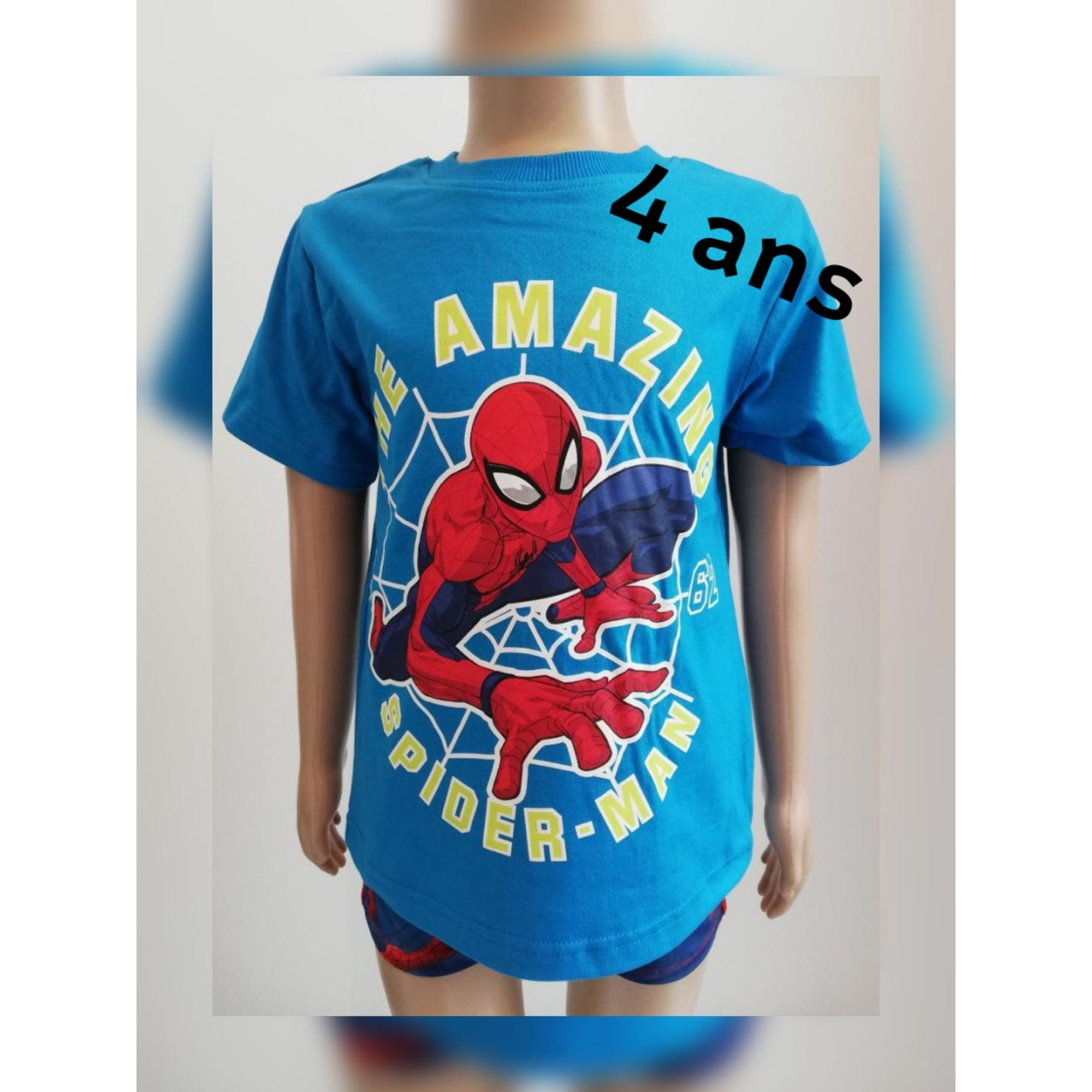 Tee-shirt MARVEL Bleu, bleu marine, bleu turquoise