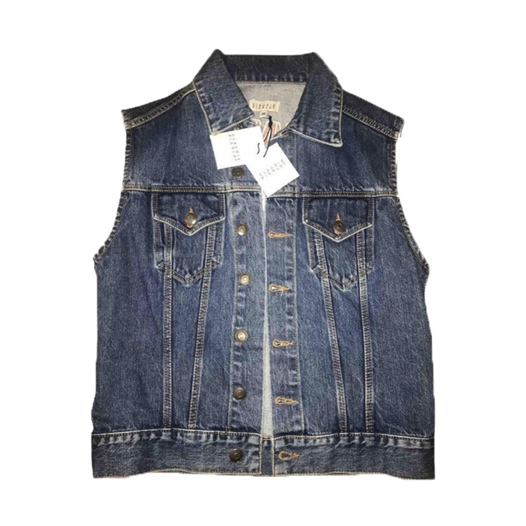 Denim Jacket CLAUDIE PIERLOT Blue, navy, turquoise