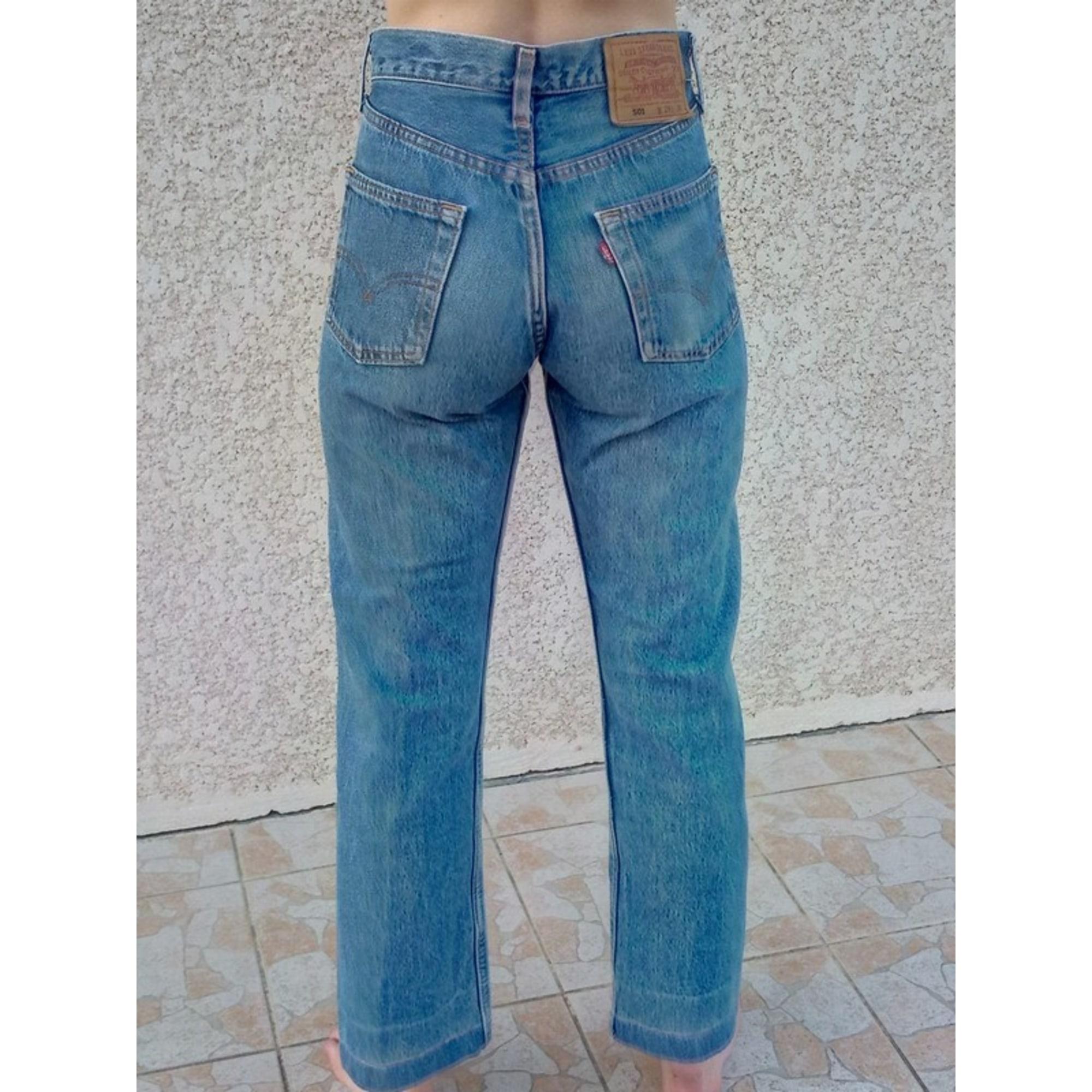 Jeans large, boyfriend LEVI'S Bleu, bleu marine, bleu turquoise
